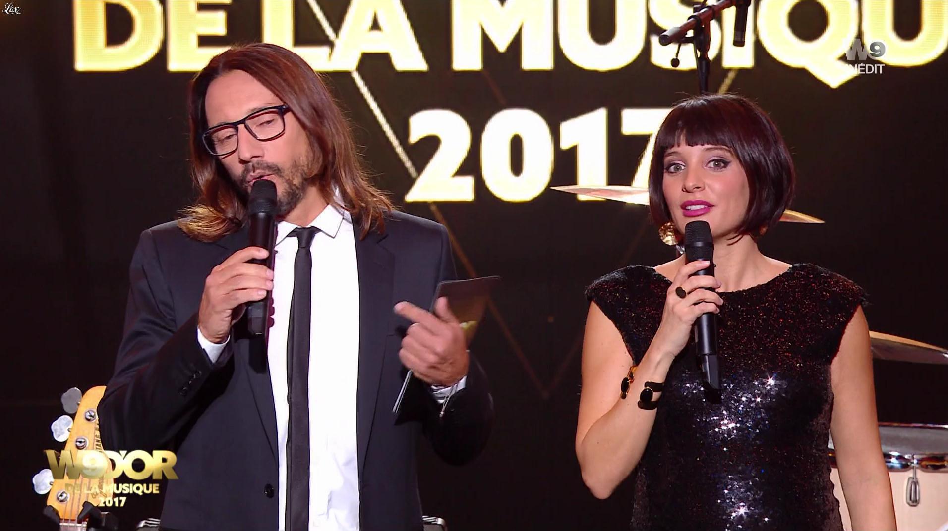 Erika Moulet lors des W9 d'Or. Diffusé à la télévision le 27/12/17.