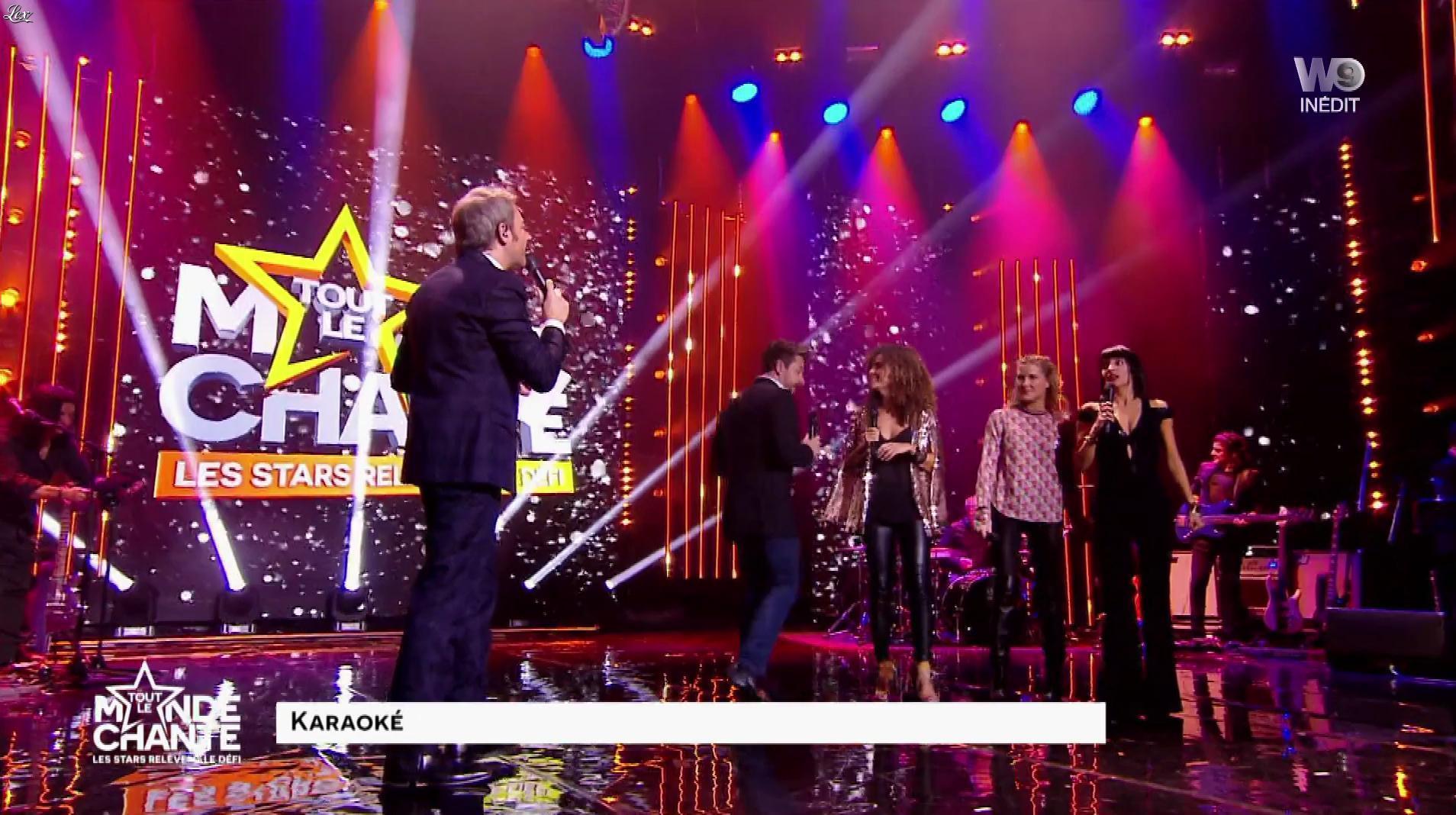 Erika Moulet, Stéphanie Renouvin et Anaïs Grangerac dans Tout le Monde Chante. Diffusé à la télévision le 22/12/16.