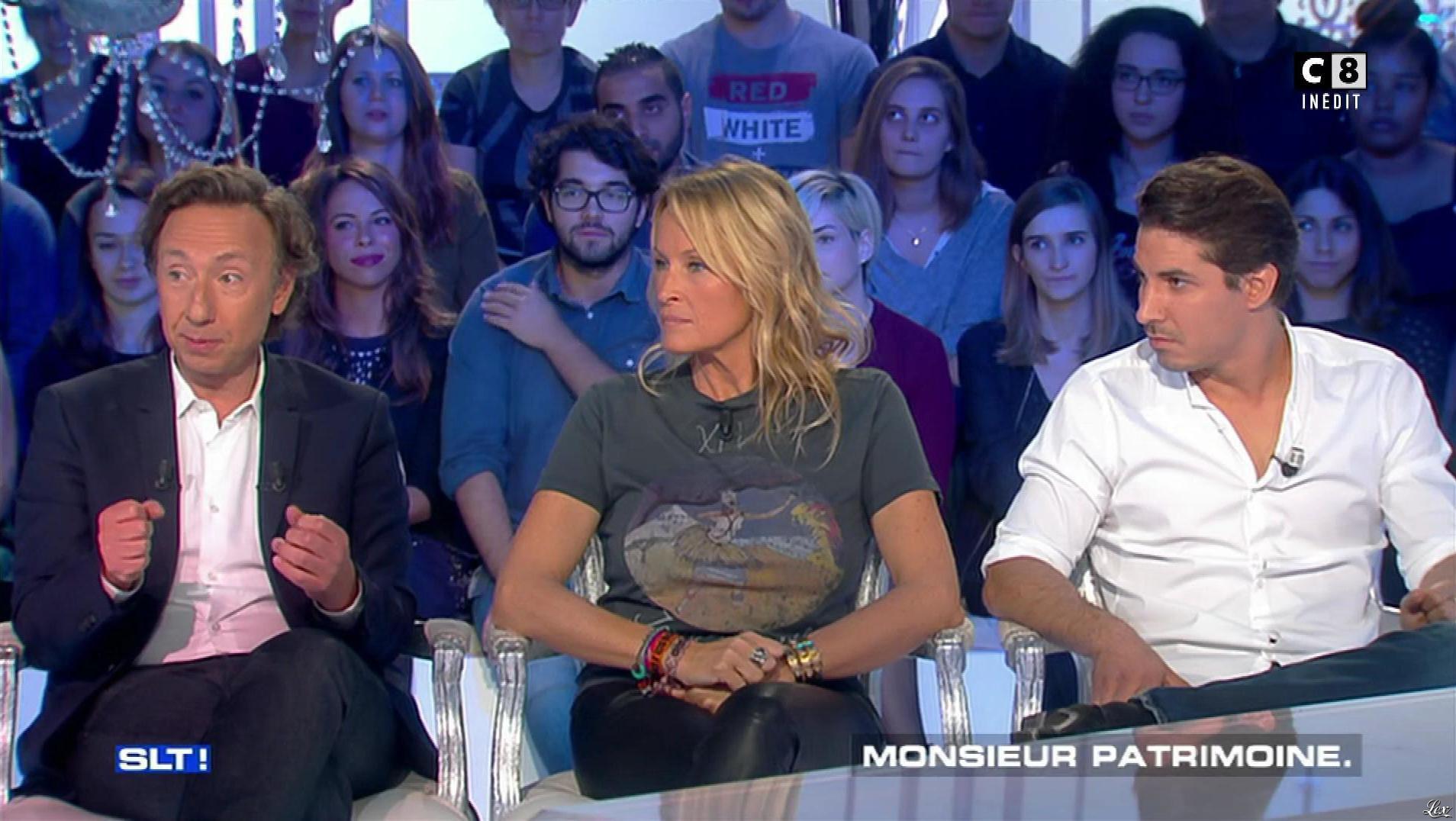 Estelle Lefébure dans Salut les Terriens. Diffusé à la télévision le 21/10/17.