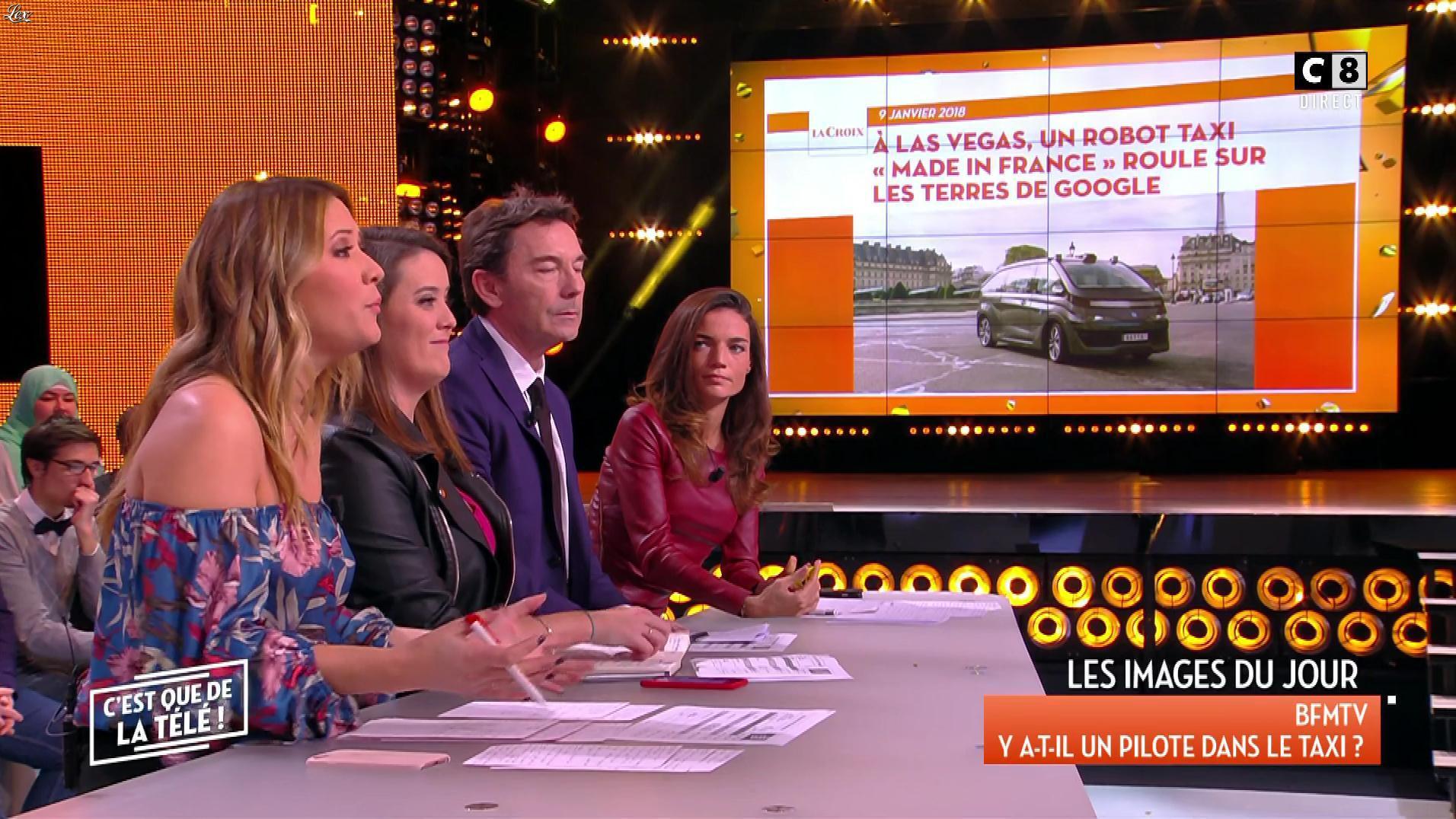 Francesca Antoniotti dans c'est Que de la Télé. Diffusé à la télévision le 09/01/18.