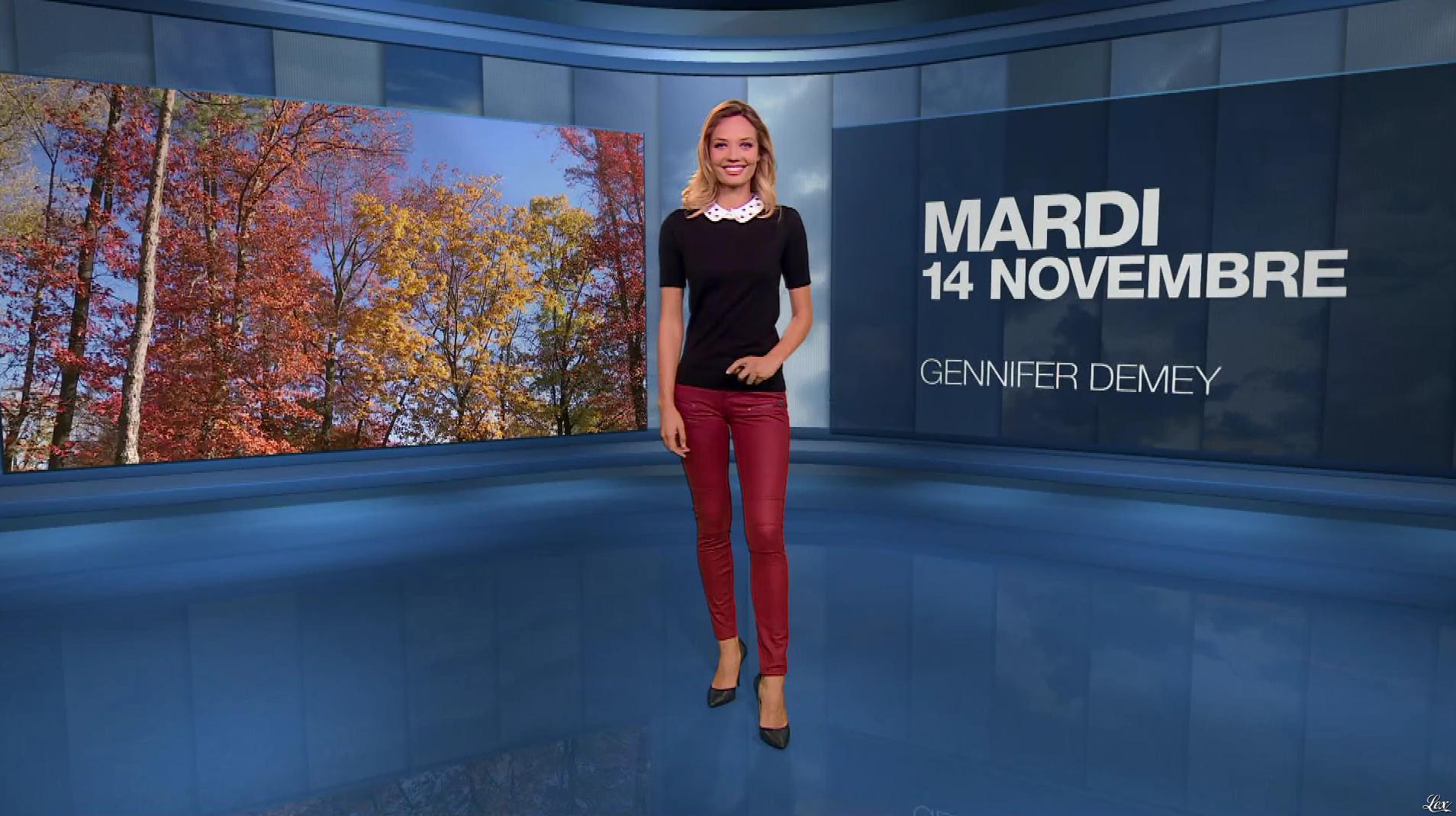 Gennifer Demey dans la Meteo du Soir. Diffusé à la télévision le 14/11/17.