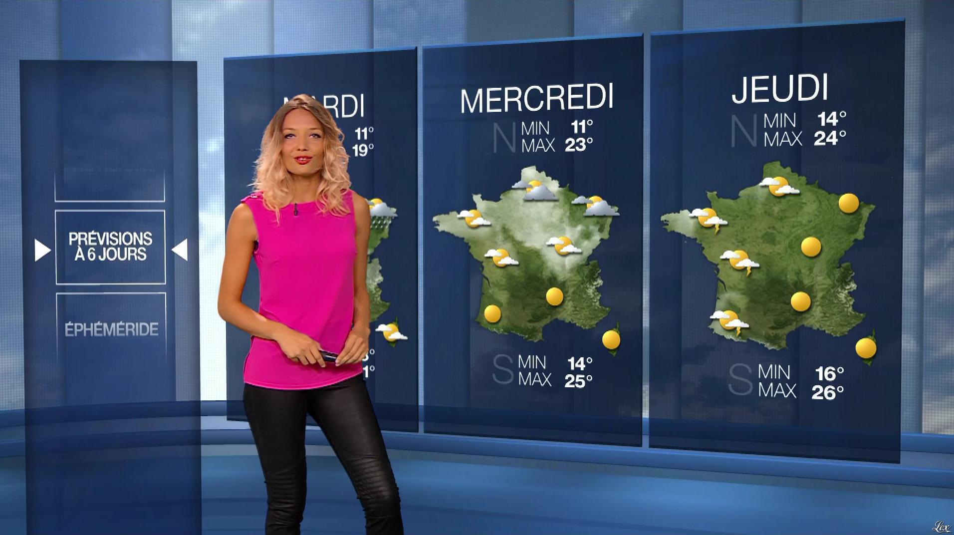 Gennifer Demey à la Météo du Soir. Diffusé à la télévision le 01/06/17.