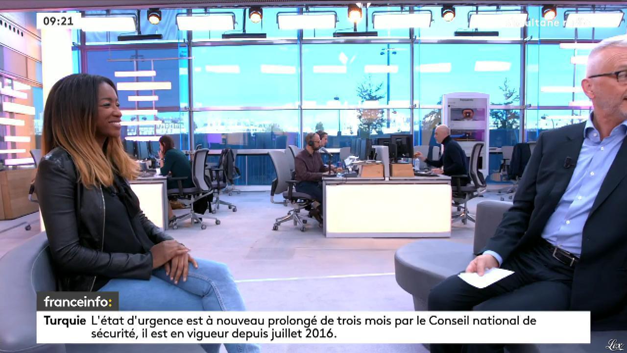 Hapsatou Sy dans France Info. Diffusé à la télévision le 18/04/17.