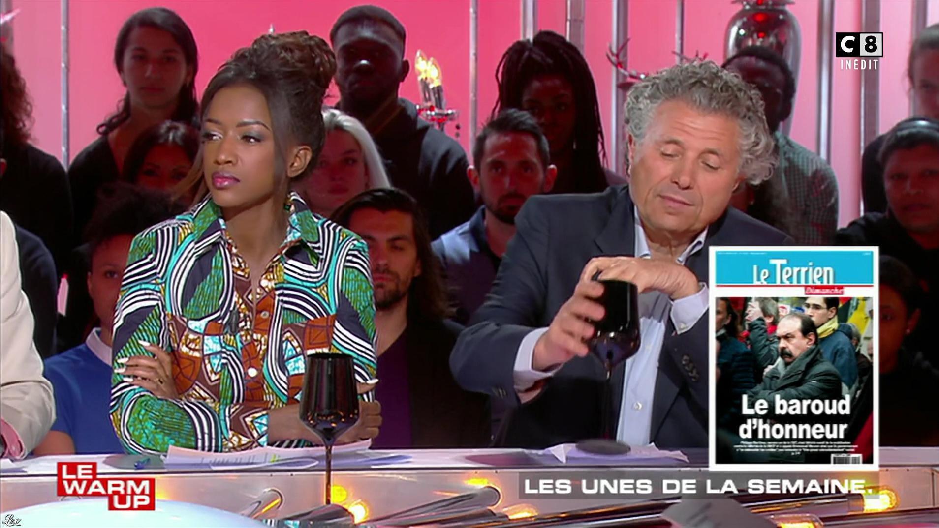 Hapsatou Sy dans les Terriens du Dimanche. Diffusé à la télévision le 08/04/18.