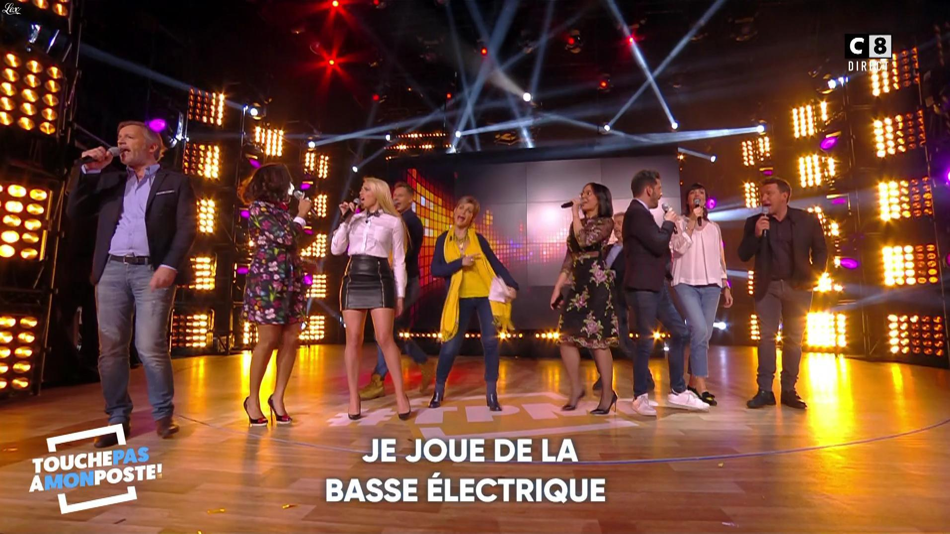 Kelly Vedovelli et Agathe Auproux dans Touche pas à mon Poste. Diffusé à la télévision le 16/01/18.