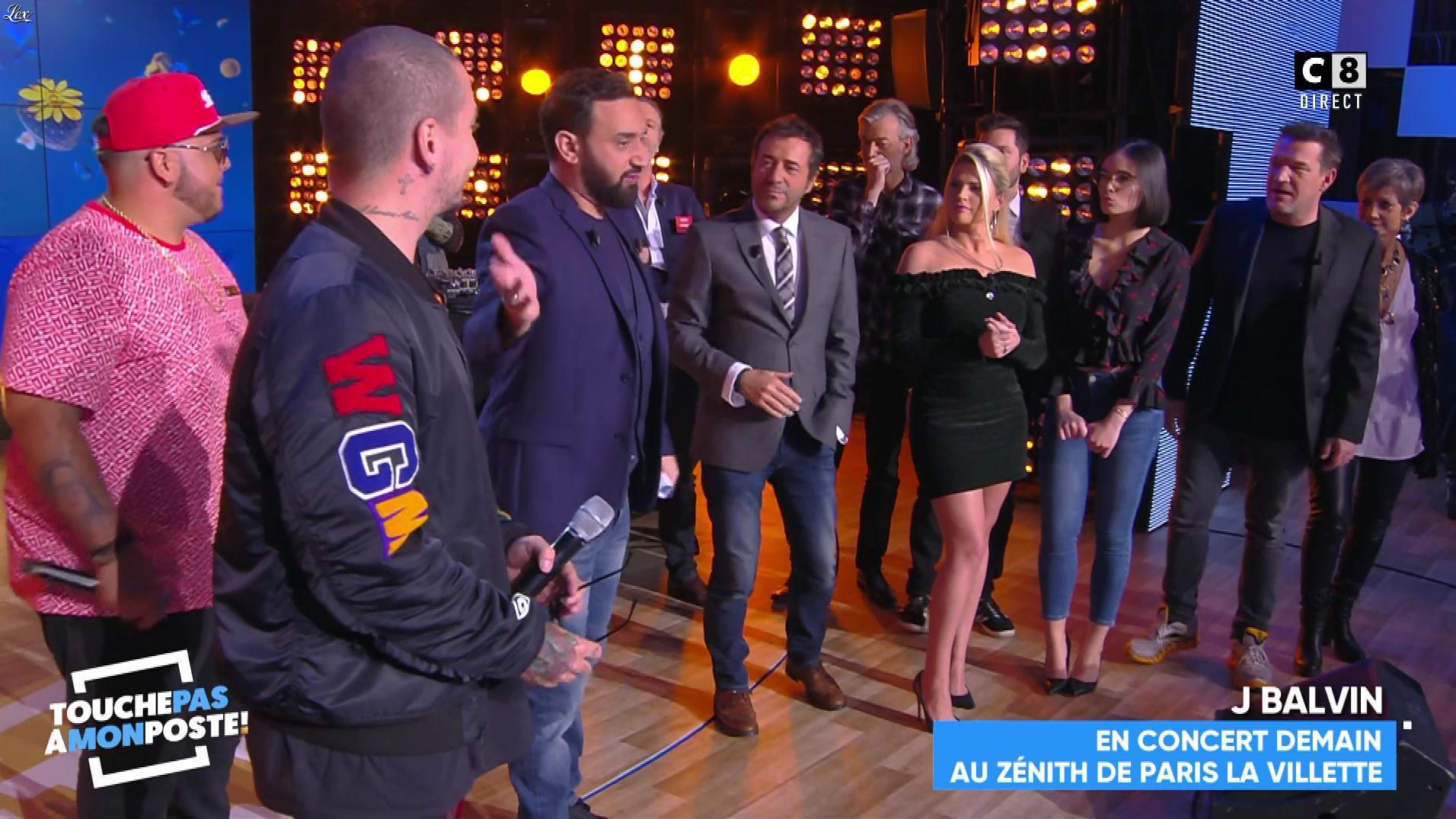 Kelly Vedovelli et Agathe Auproux dans Touche pas à mon Poste. Diffusé à la télévision le 24/01/18.