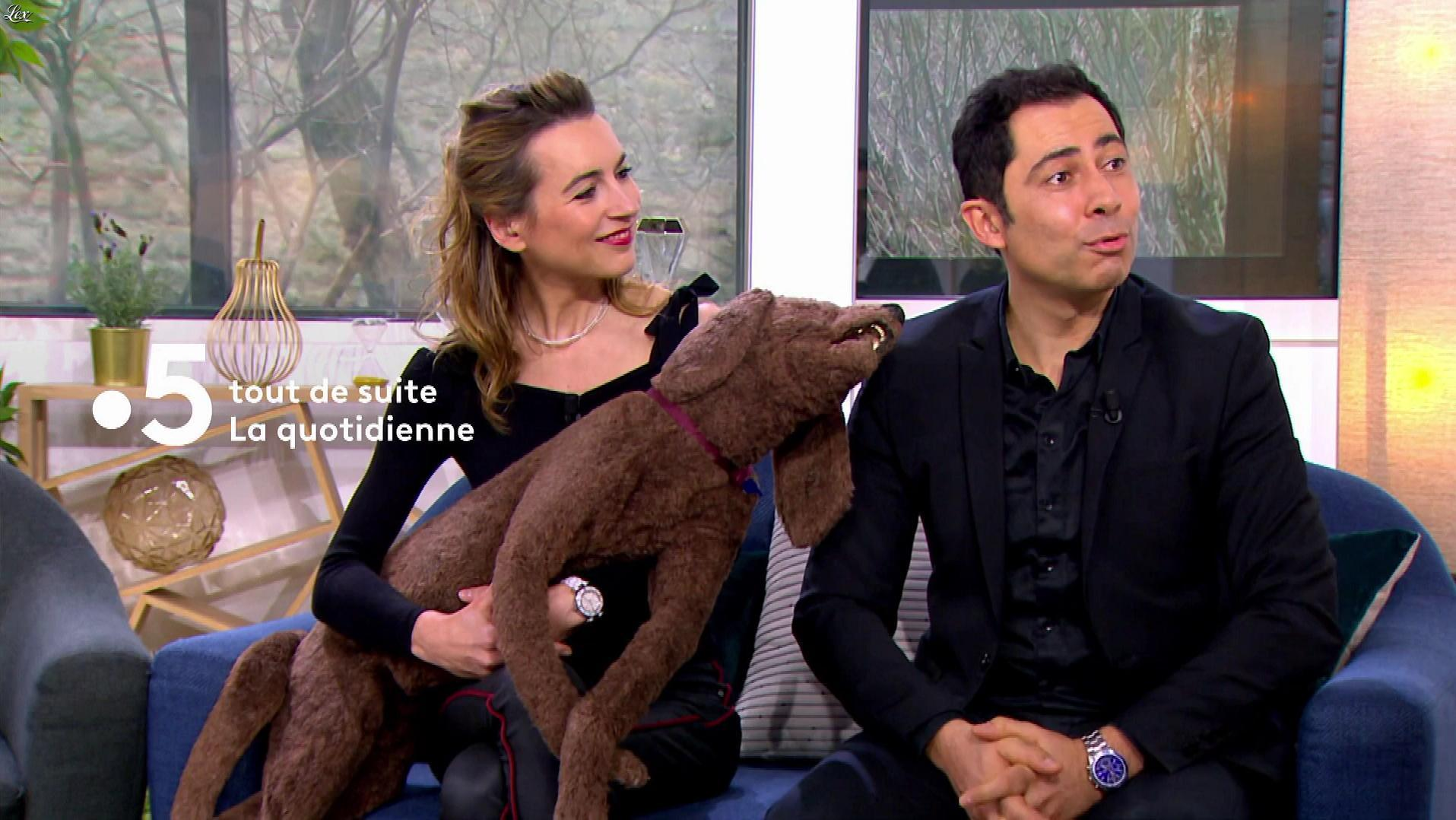 Laetitia Barlerin dans la Quotidienne. Diffusé à la télévision le 28/02/18.