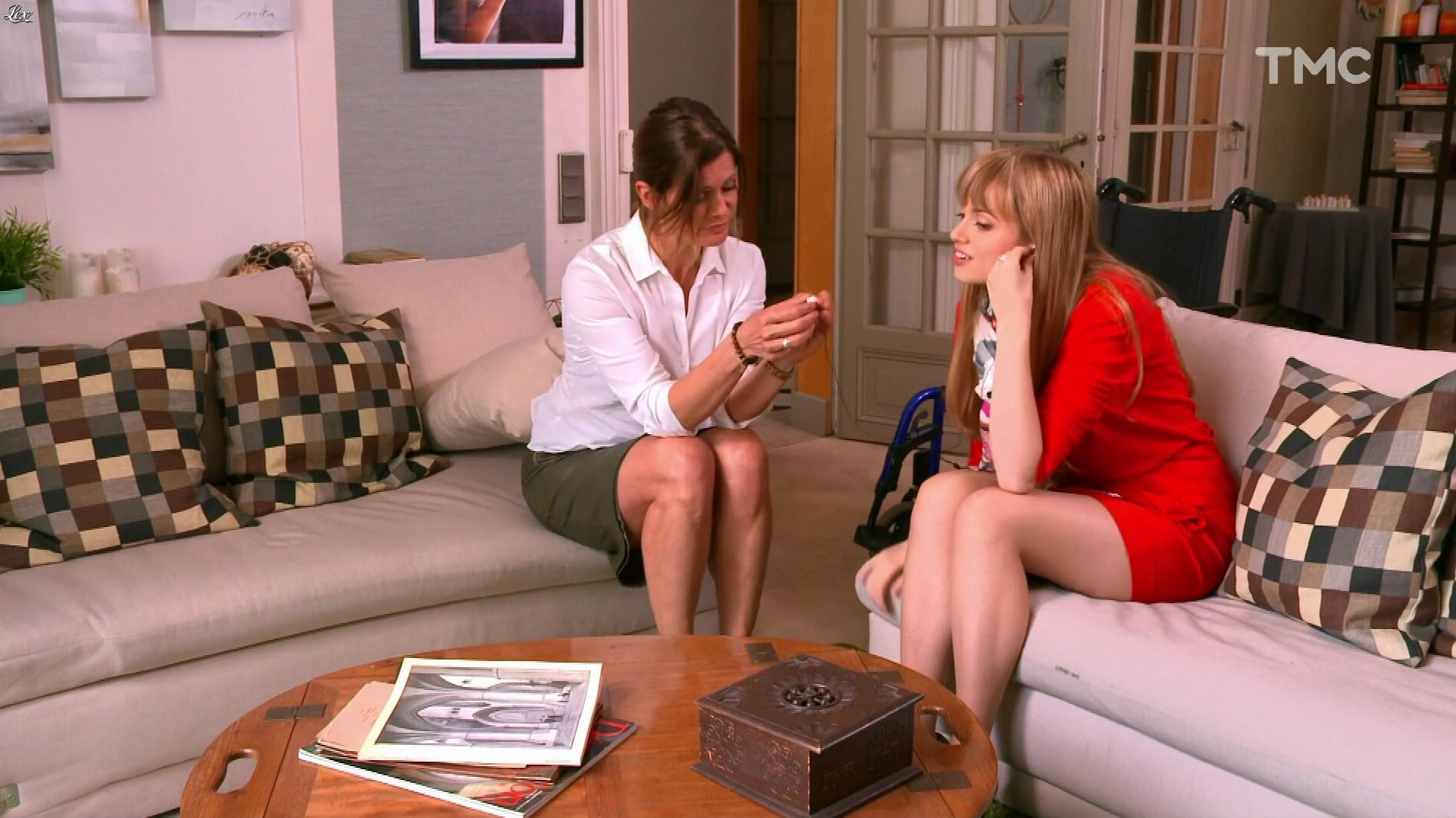 Laly Meignan et Ambre Rochard dans les Mystères de l'Amour. Diffusé à la télévision le 04/07/17.