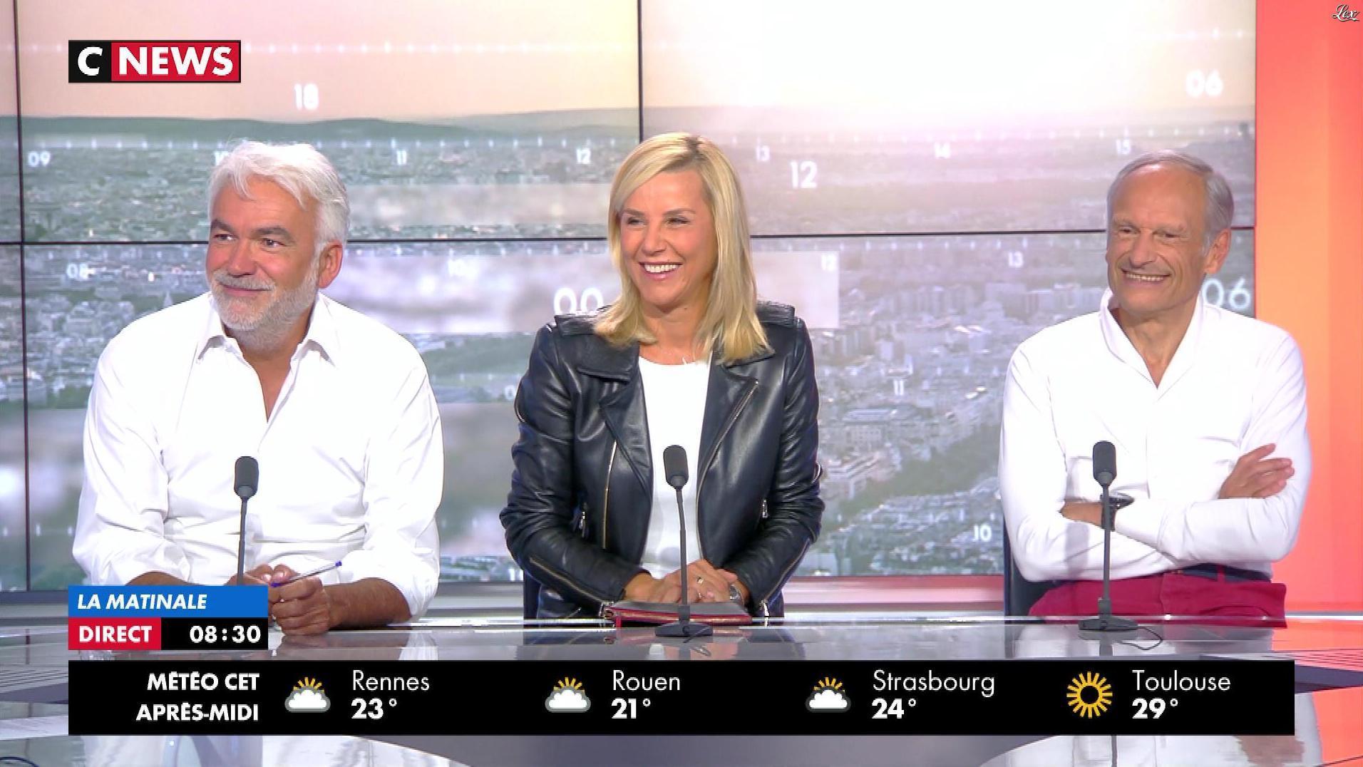 Laurence Ferrari dans la Matinale. Diffusé à la télévision le 27/08/18.