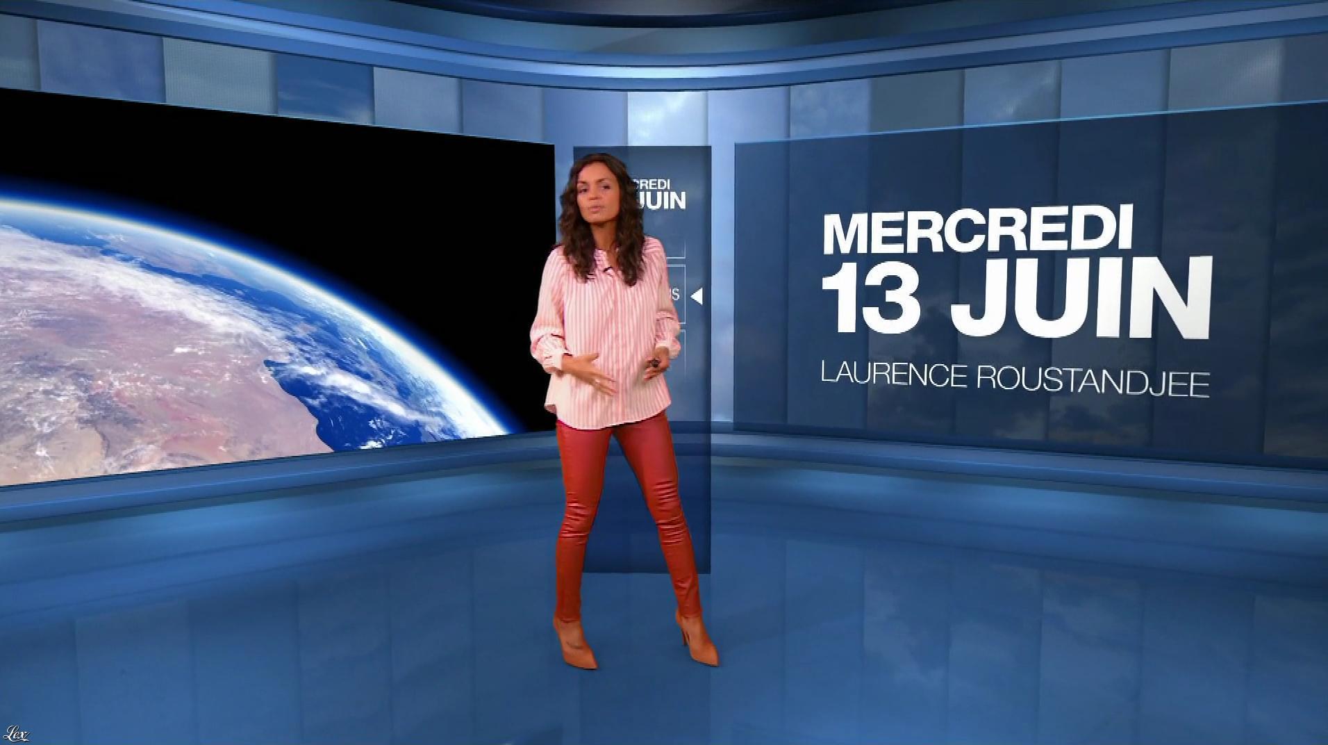 Laurence Roustandjee à la Météo du Soir. Diffusé à la télévision le 13/06/18.