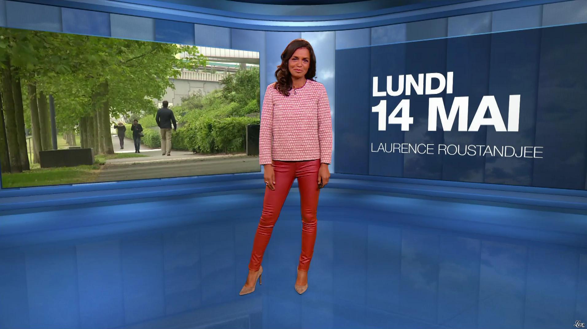 Laurence Roustandjee à la Météo du Soir. Diffusé à la télévision le 14/05/18.