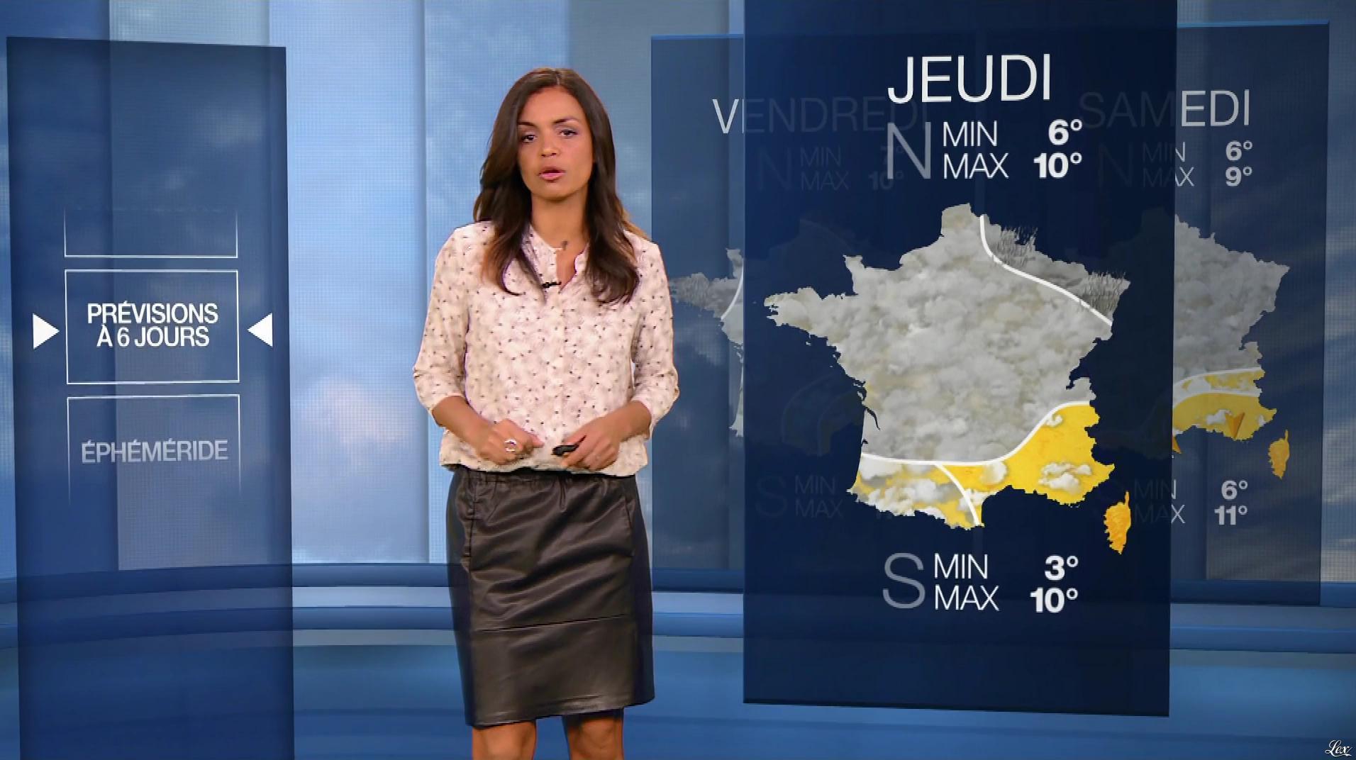 Laurence Roustandjee à la Météo du Soir. Diffusé à la télévision le 19/12/17.
