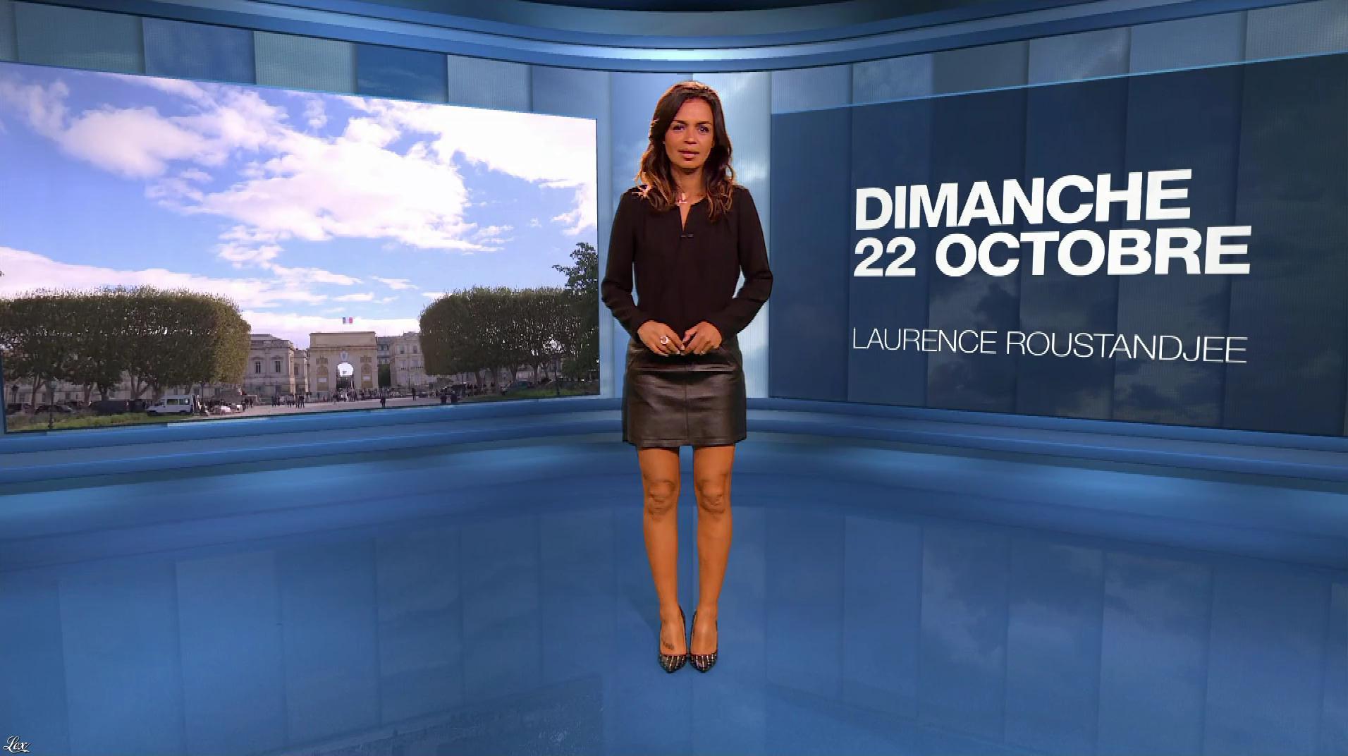 Laurence Roustandjee à la Météo du Soir. Diffusé à la télévision le 22/10/17.