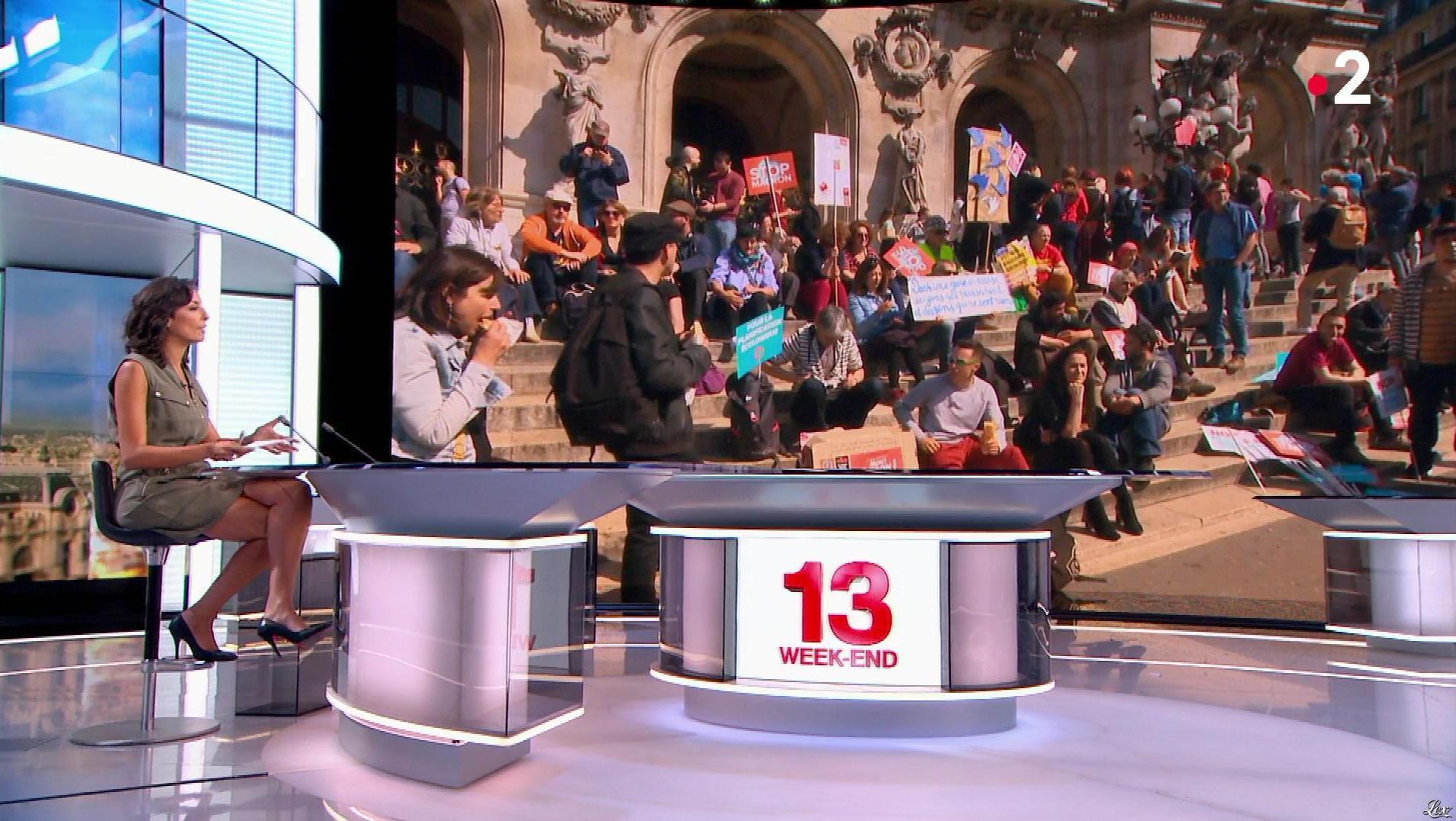 Leïla Kaddour dans le 13h. Diffusé à la télévision le 05/05/18.