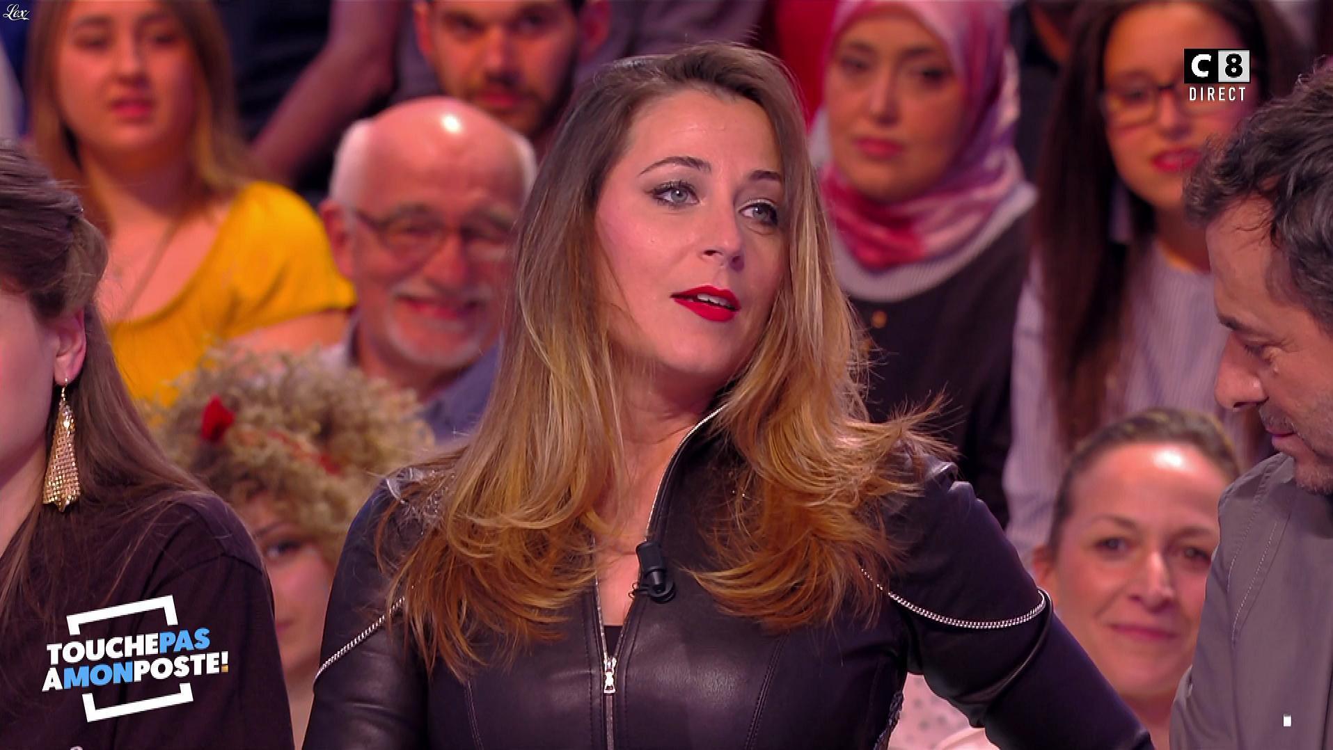 Magali Berdah dans Touche pas à mon Poste. Diffusé à la télévision le 13/04/18.
