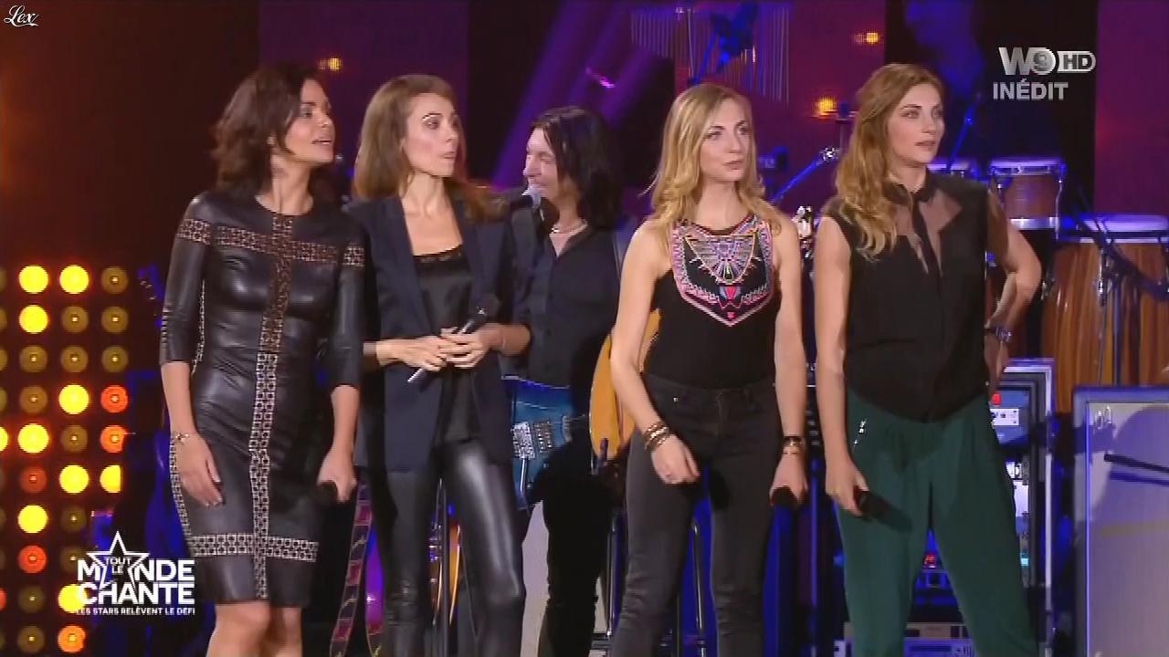 Marie-Ange Casalta et Laurence Roustandjee dans Tout le Monde Chante. Diffusé à la télévision le 17/12/15.