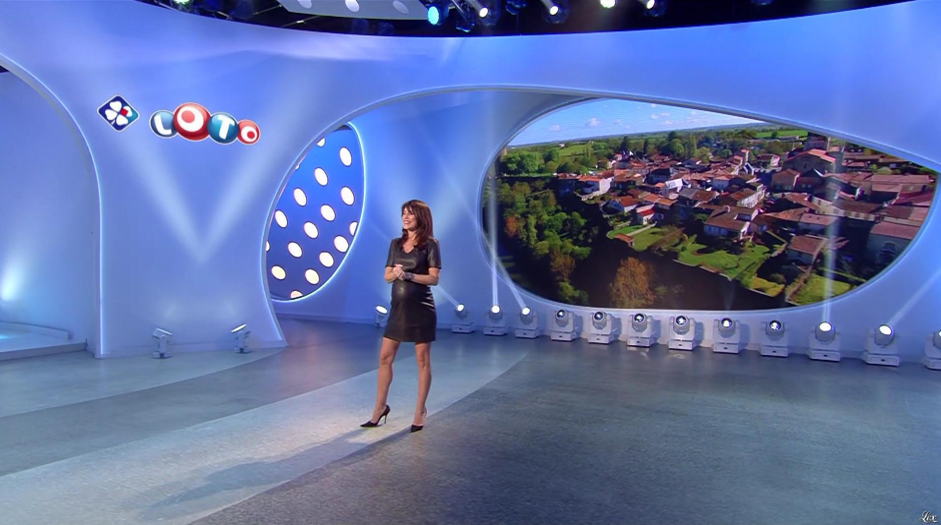 Marion Jollès Grosjean lors du Tirage du Loto. Diffusé à la télévision le 25/11/17.