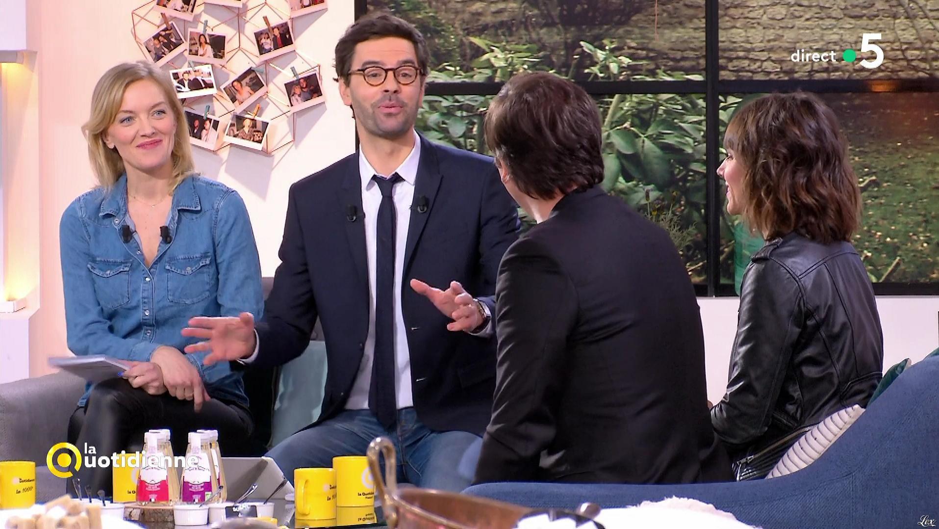 Maya Lauqué et Mélanie Taravant dans la Quotidienne. Diffusé à la télévision le 19/02/18.