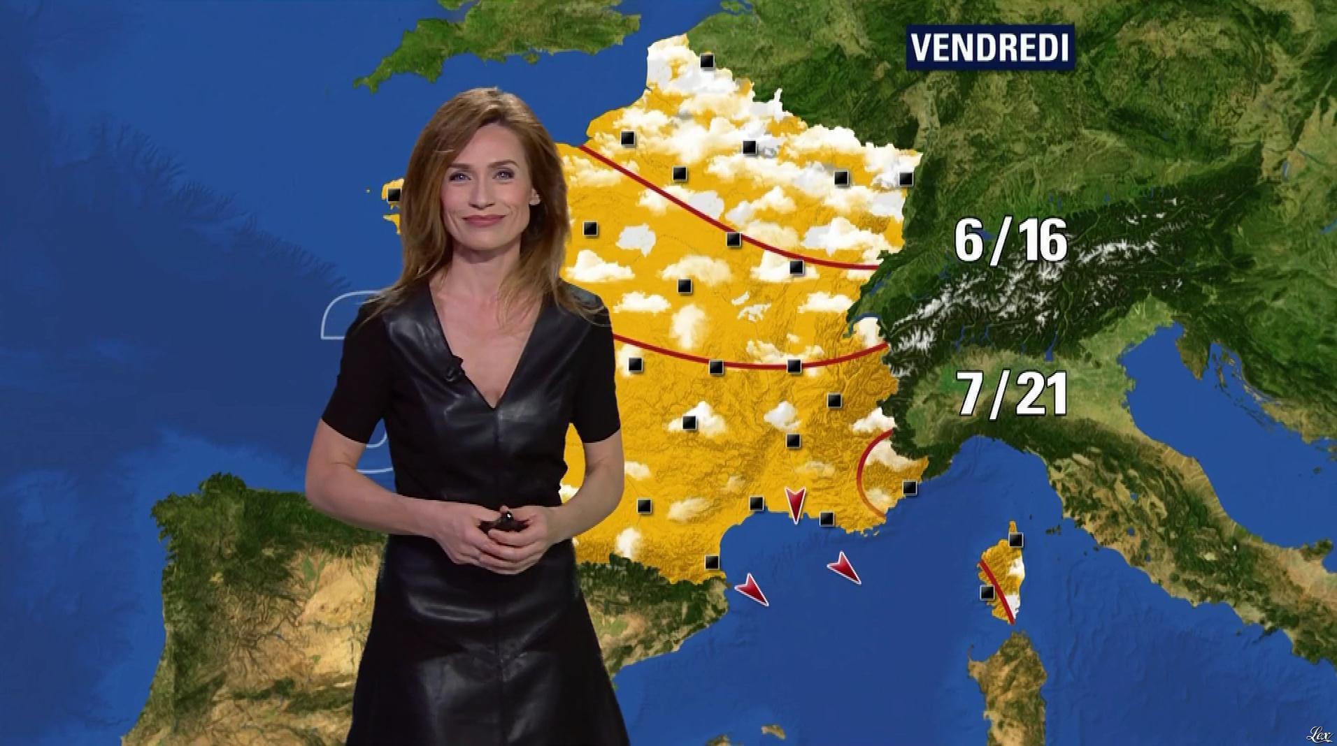 Sandra Larue à la Météo de BFM TV. Diffusé à la télévision le 08/04/17.