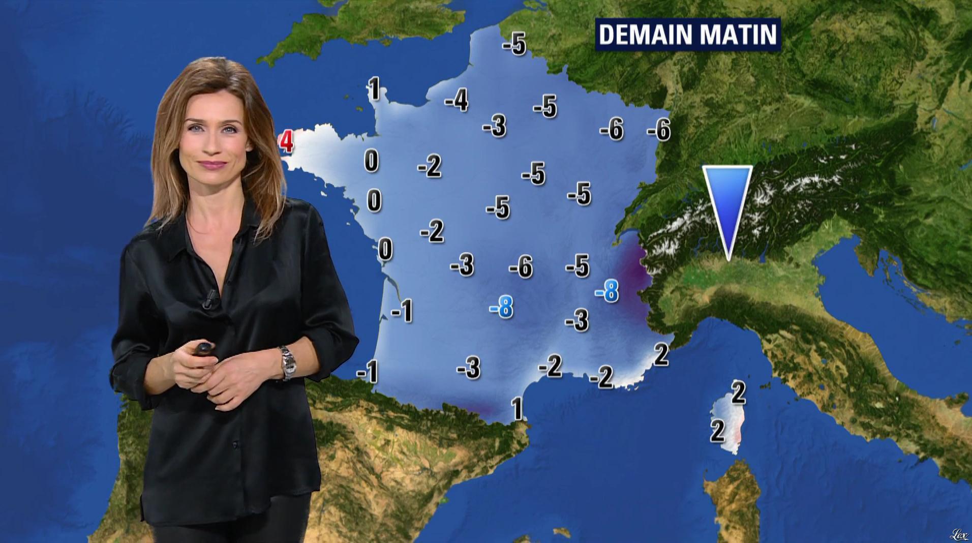 Sandra Larue à la Météo de BFM TV. Diffusé à la télévision le 16/01/17.