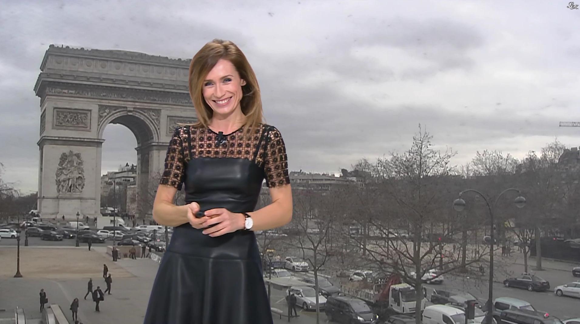 Sandra Larue à la Météo de BFM TV. Diffusé à la télévision le 22/02/17.