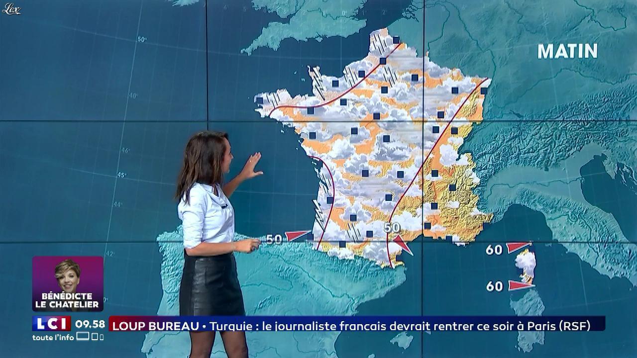 Solène Chavanne à la Météo de LCI. Diffusé à la télévision le 16/09/17.