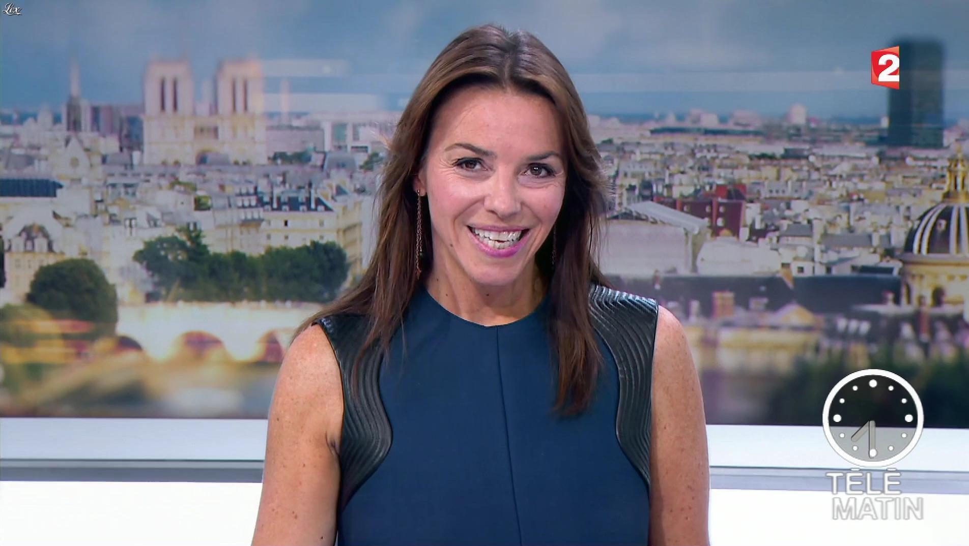 Sophie Le Saint dans Télématin. Diffusé à la télévision le 28/09/17.