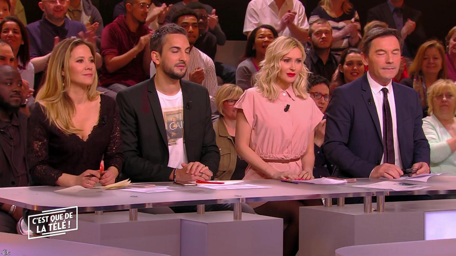 Stéphanie Loire et Tatiana Laurens Delarue dans c'est Que de la Télé. Diffusé à la télévision le 22/01/18.