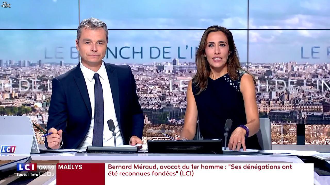Sylvia Amicone dans le Brunch de l'Info. Diffusé à la télévision le 02/09/17.