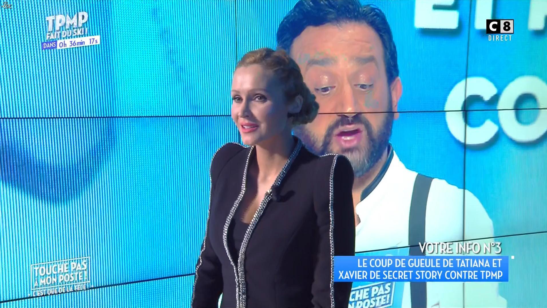 Tatiana Laurens Delarue dans Touche pas à mon Poste. Diffusé à la télévision le 20/01/17.