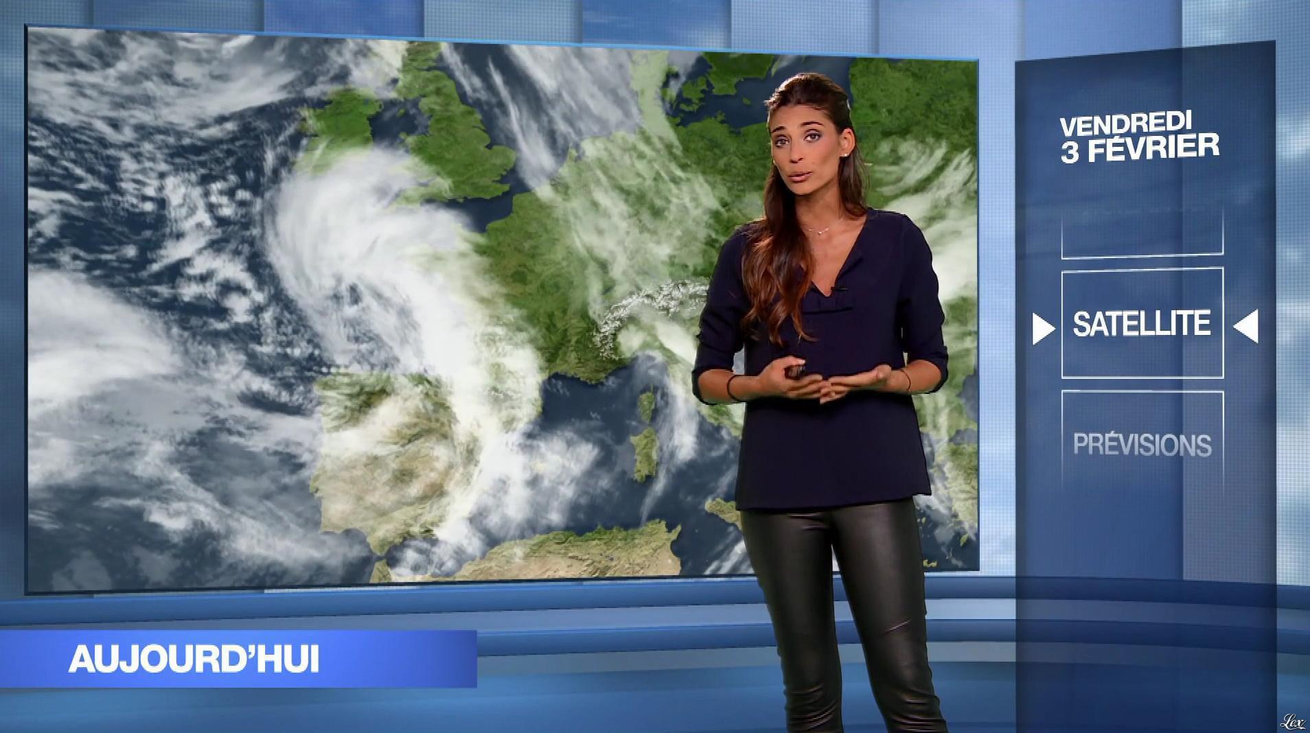 Tatiana Silva à la Météo du Soir. Diffusé à la télévision le 03/02/17.