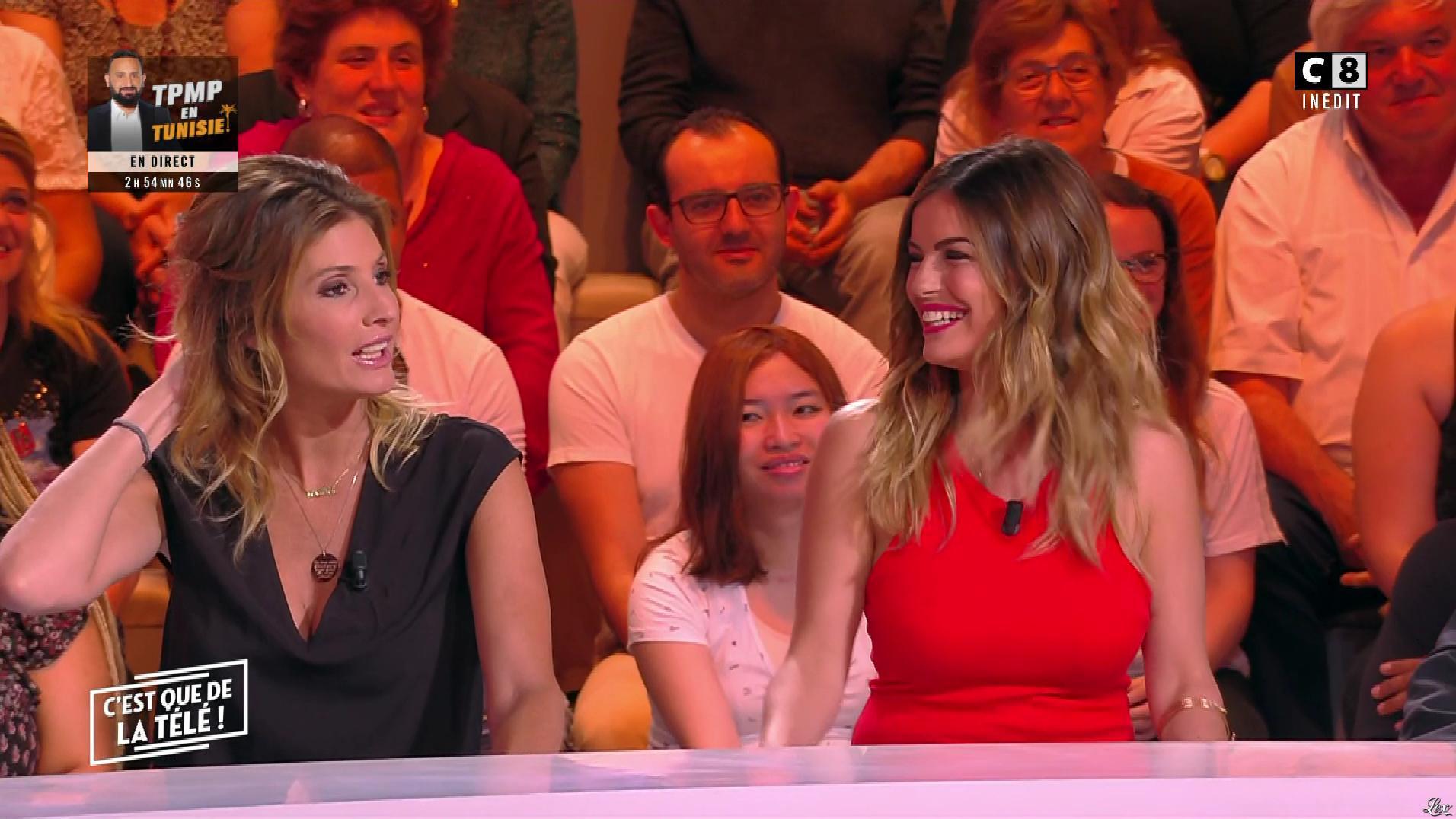 Amélie Bitoun et Caroline Ithurbide dans c'est Que de la Télé. Diffusé à la télévision le 13/06/19.