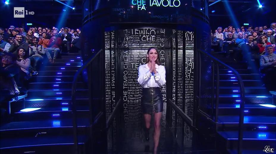 Anna Tatangelo dans Che Tempo Che Fa. Diffusé à la télévision le 24/02/19.