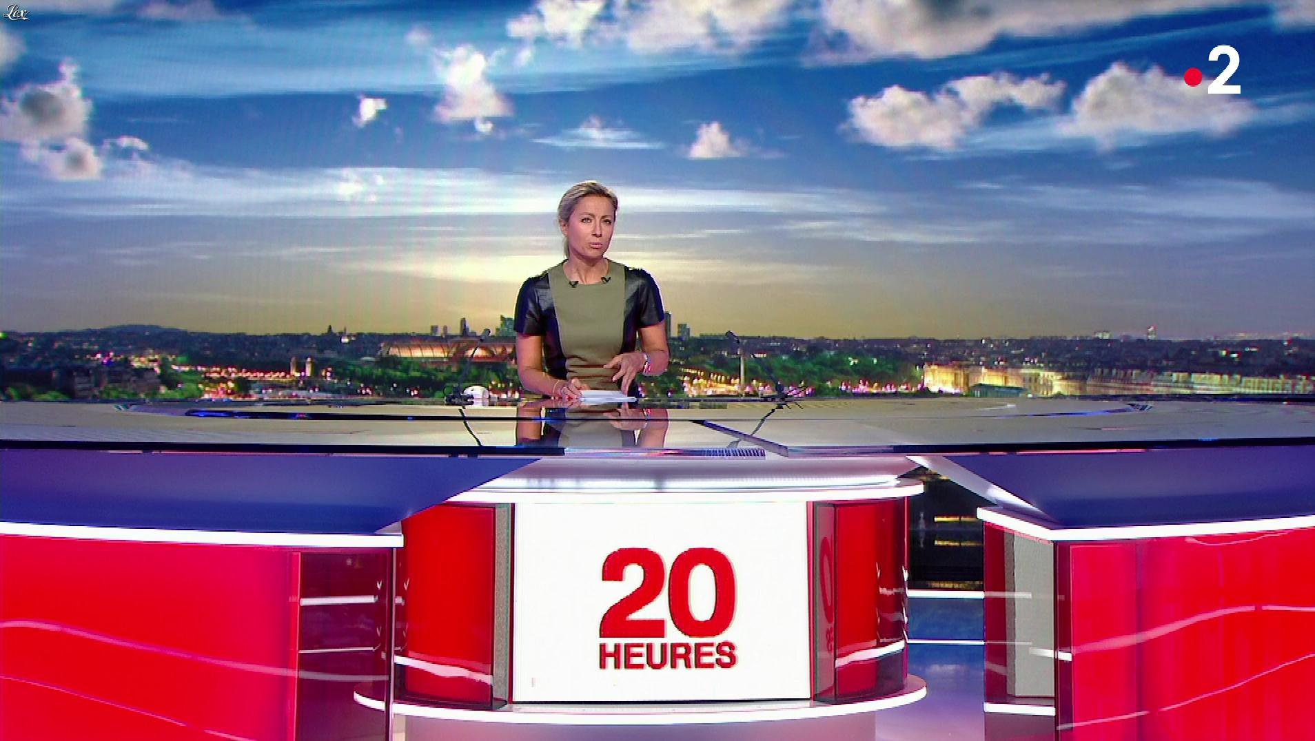 Anne-Sophie Lapix dans le 20h. Diffusé à la télévision le 13/06/19.