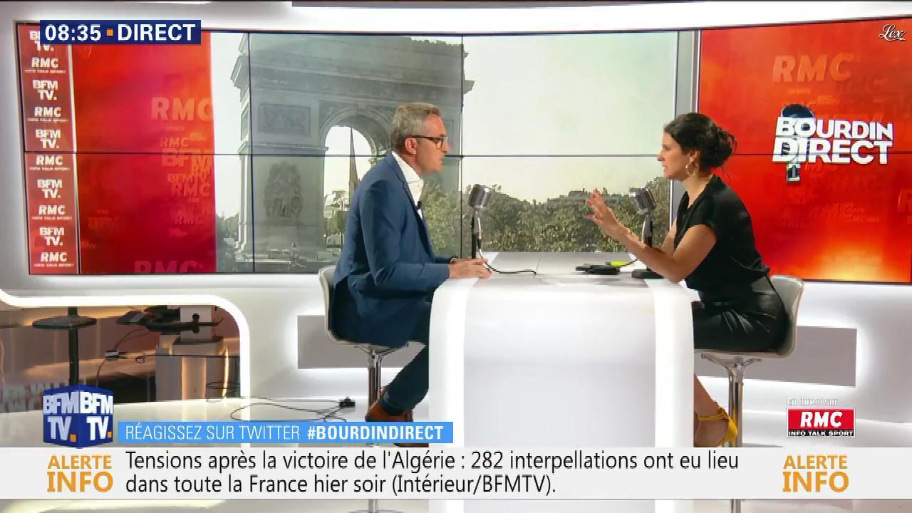 Apolline De Malherbe dans Bourdin Direct. Diffusé à la télévision le 15/07/19.