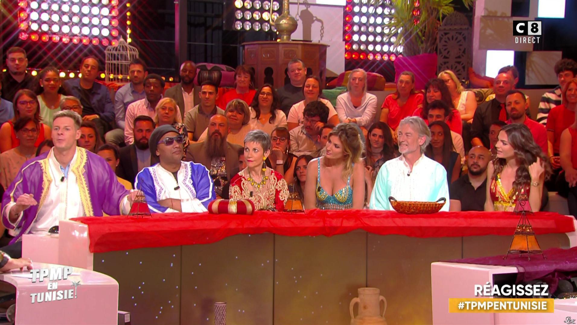 Caroline Ithurbide et FrancesÇa Antoniotti dans Touche pas à mon Poste en Tunisie. Diffusé à la télévision le 13/06/19.