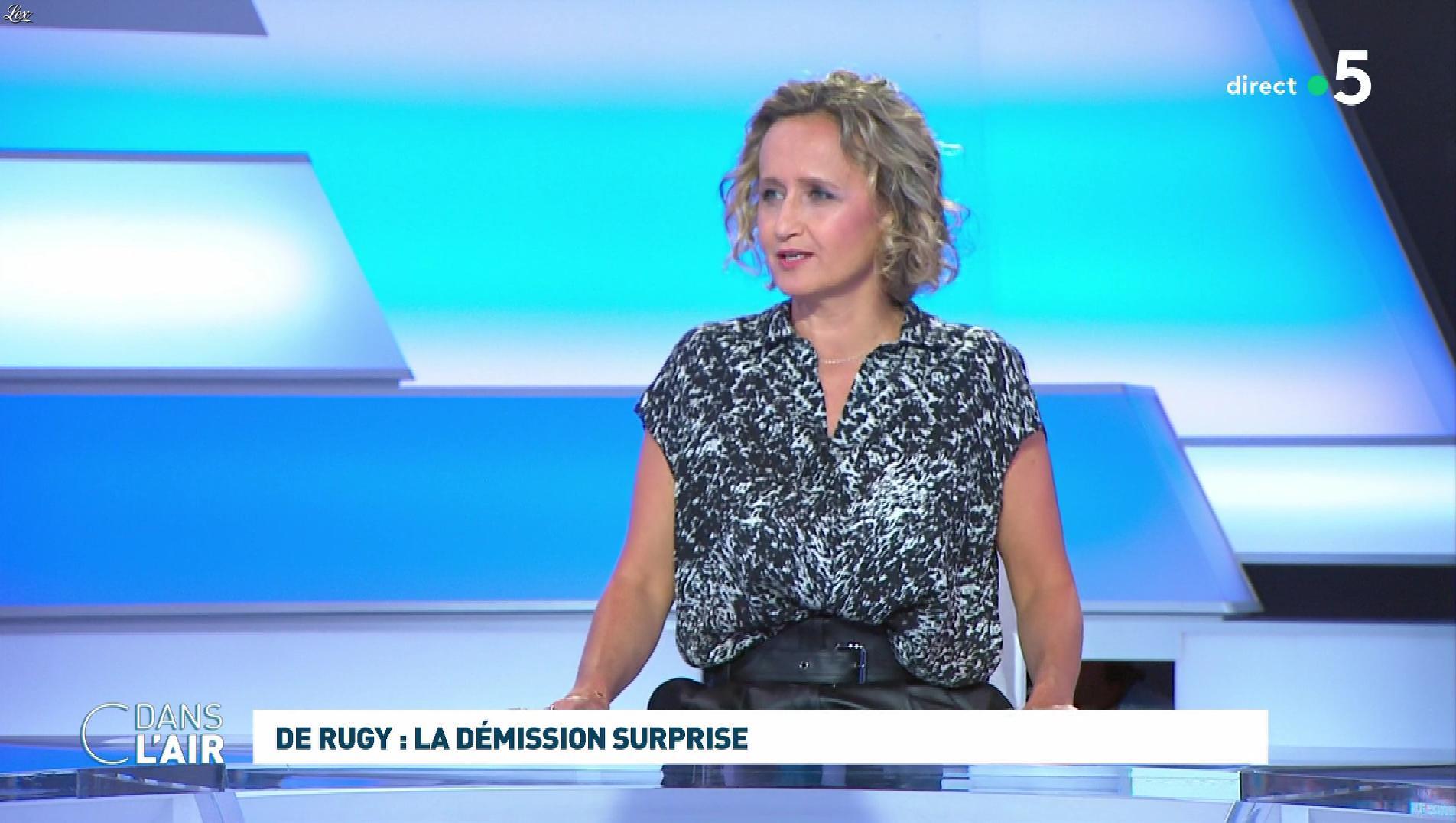 Caroline Roux dans C dans l'Air. Diffusé à la télévision le 16/07/19.