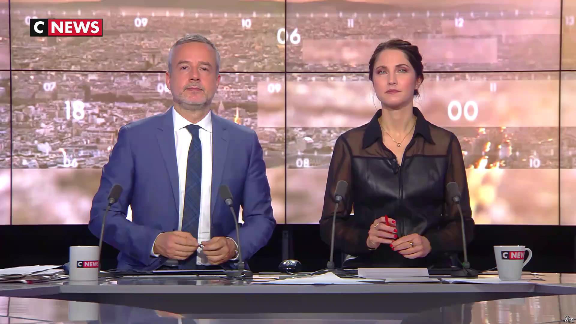 Clélie Mathias dans la Matinale. Diffusé à la télévision le 05/12/18.