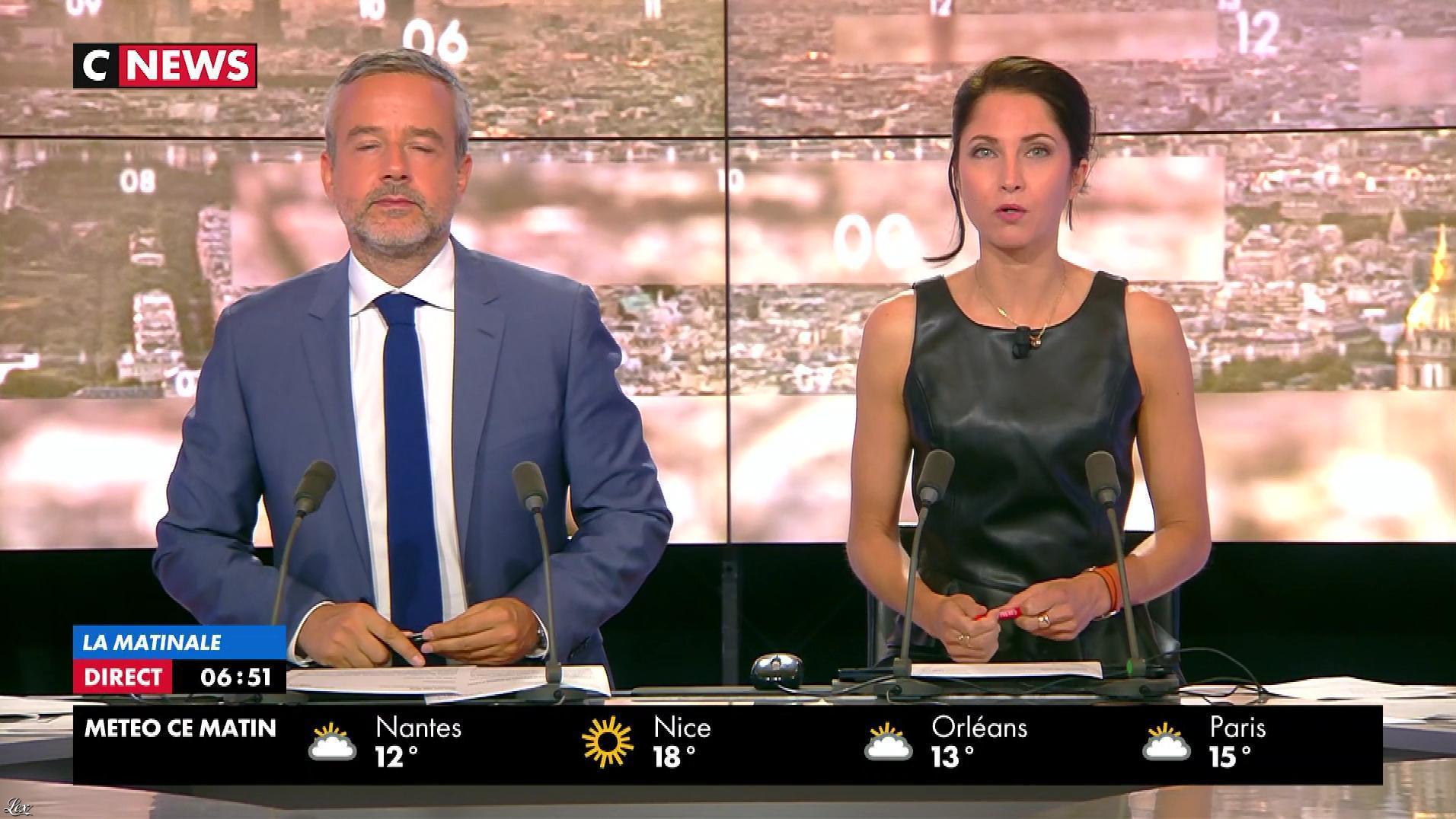 Clelie Mathias dans la Matinale. Diffusé à la télévision le 06/09/17.