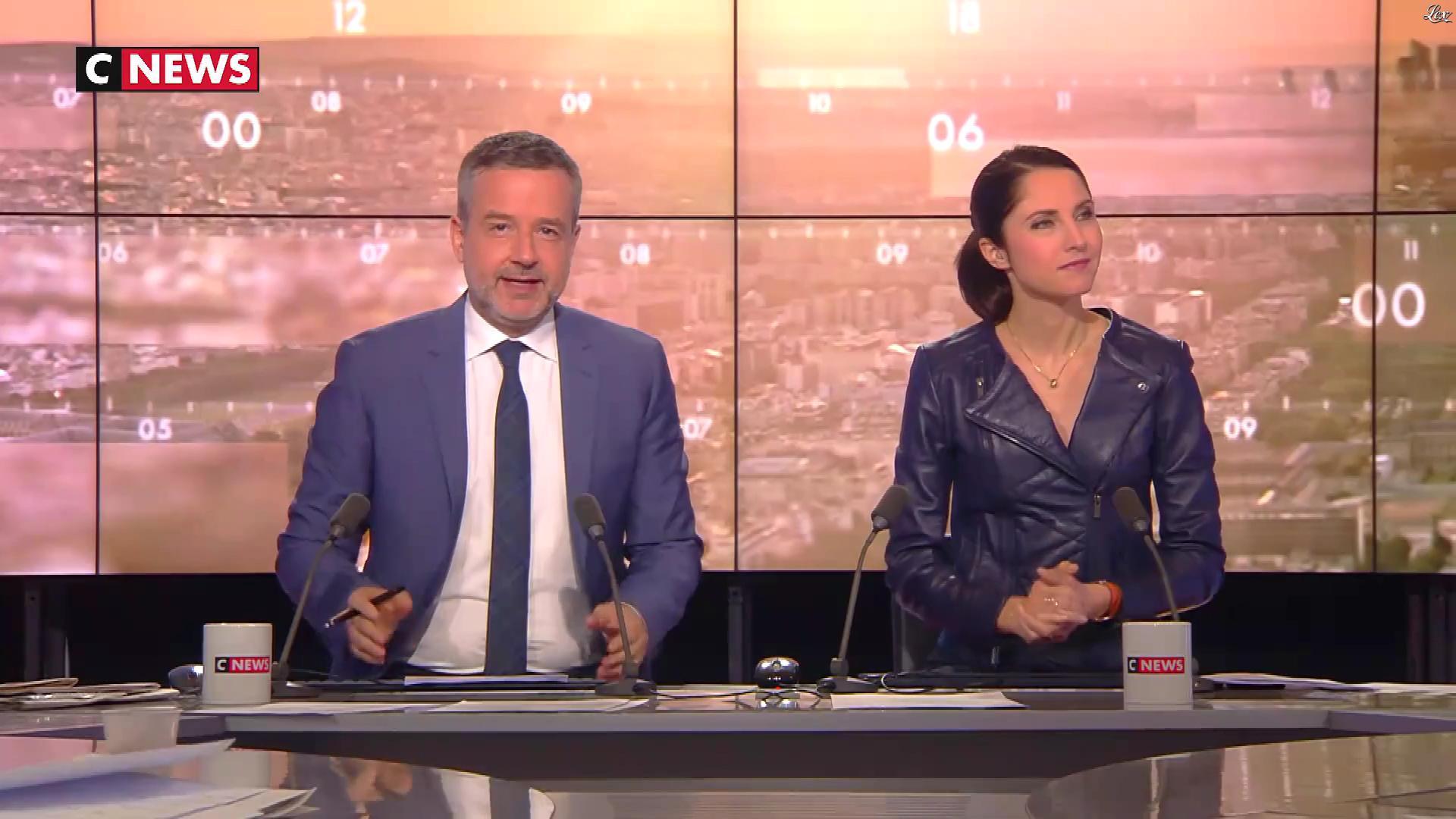 Clélie Mathias dans la Matinale. Diffusé à la télévision le 12/03/18.