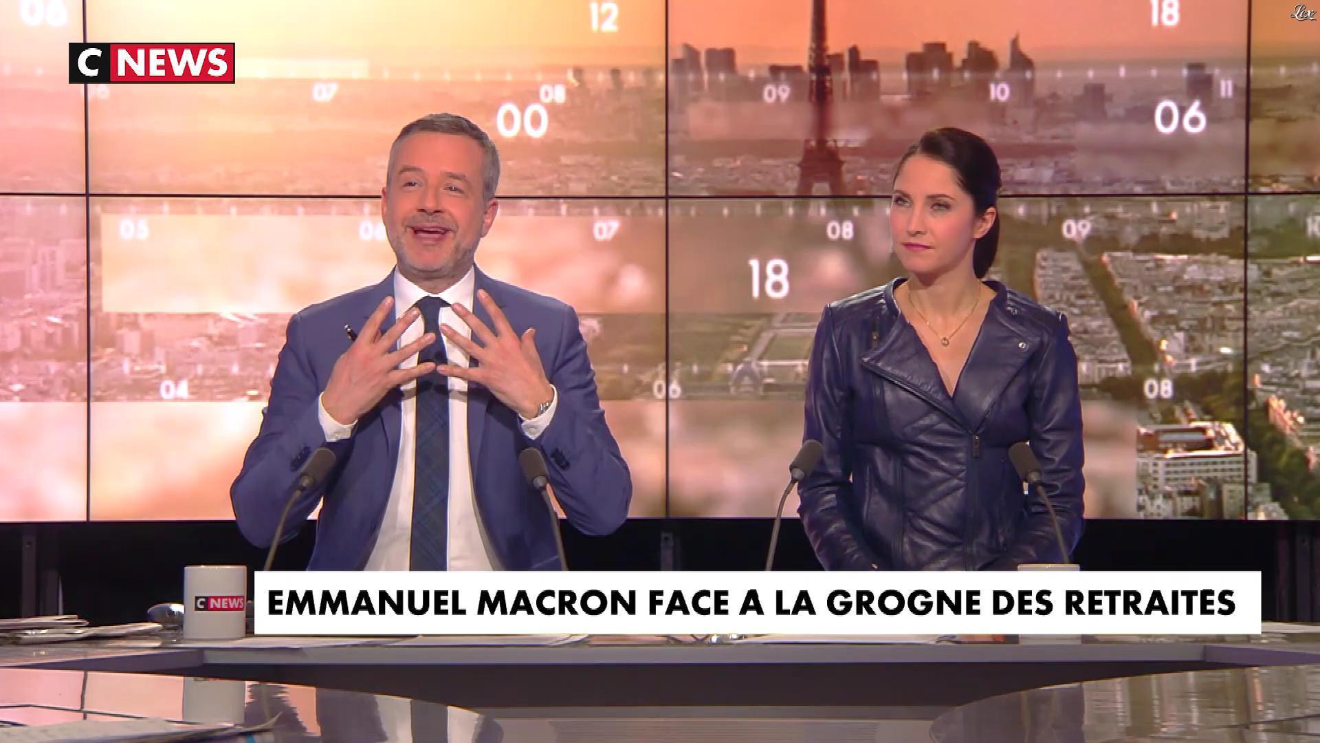 Clelie Mathias dans la Matinale. Diffusé à la télévision le 12/03/18.