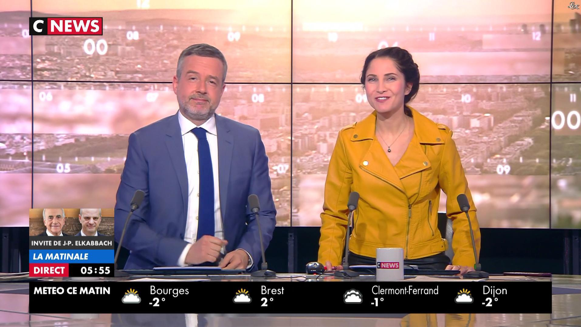 Clélie Mathias dans la Matinale. Diffusé à la télévision le 20/03/18.