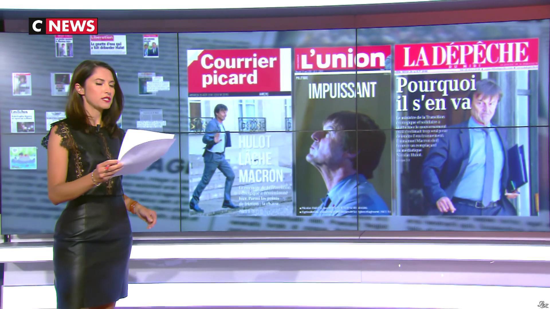 Clélie Mathias dans la Matinale. Diffusé à la télévision le 29/08/18.