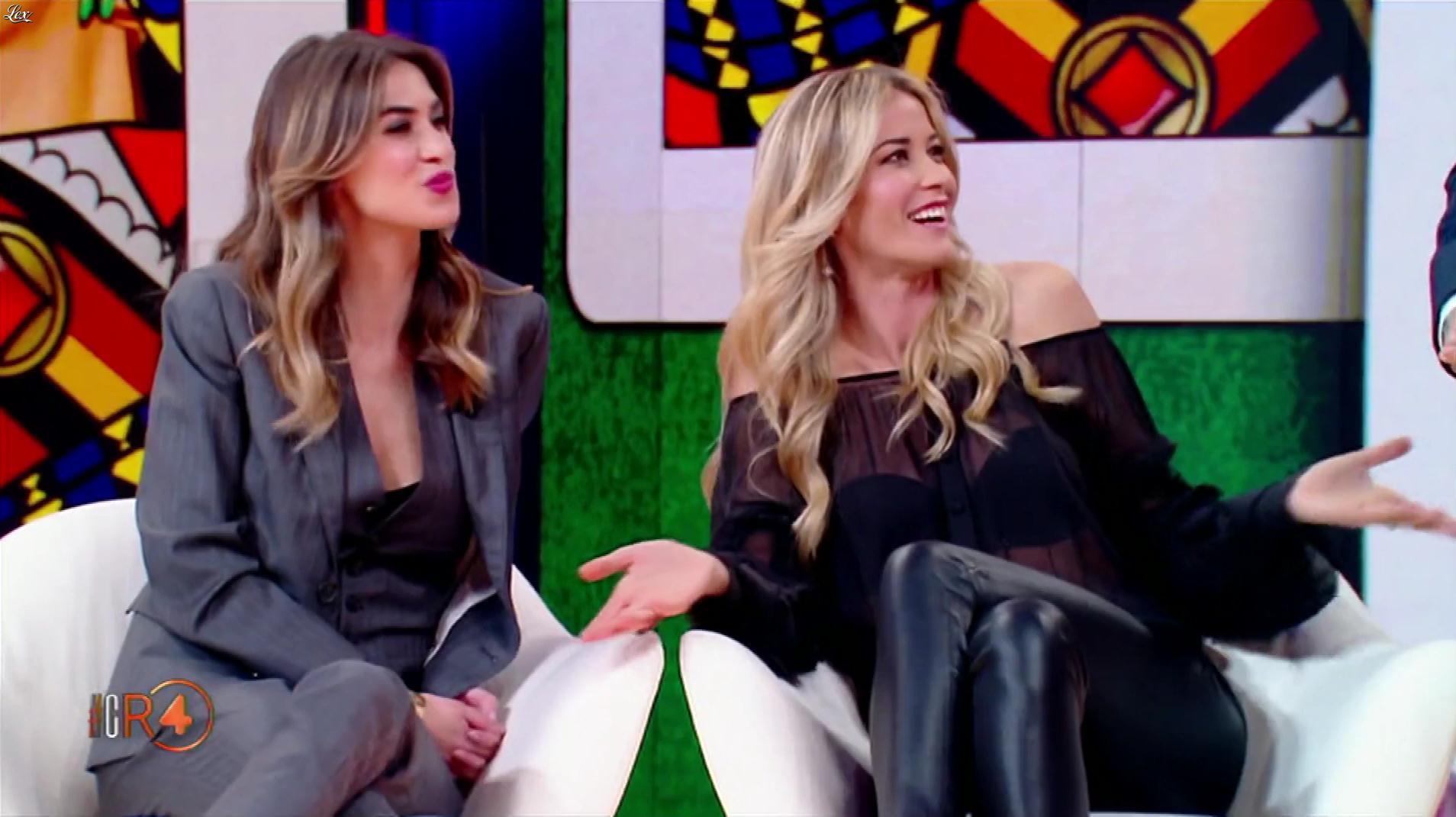 Elena Santarelli dans la RepubbliÇa Delle Donne. Diffusé à la télévision le 05/12/18.