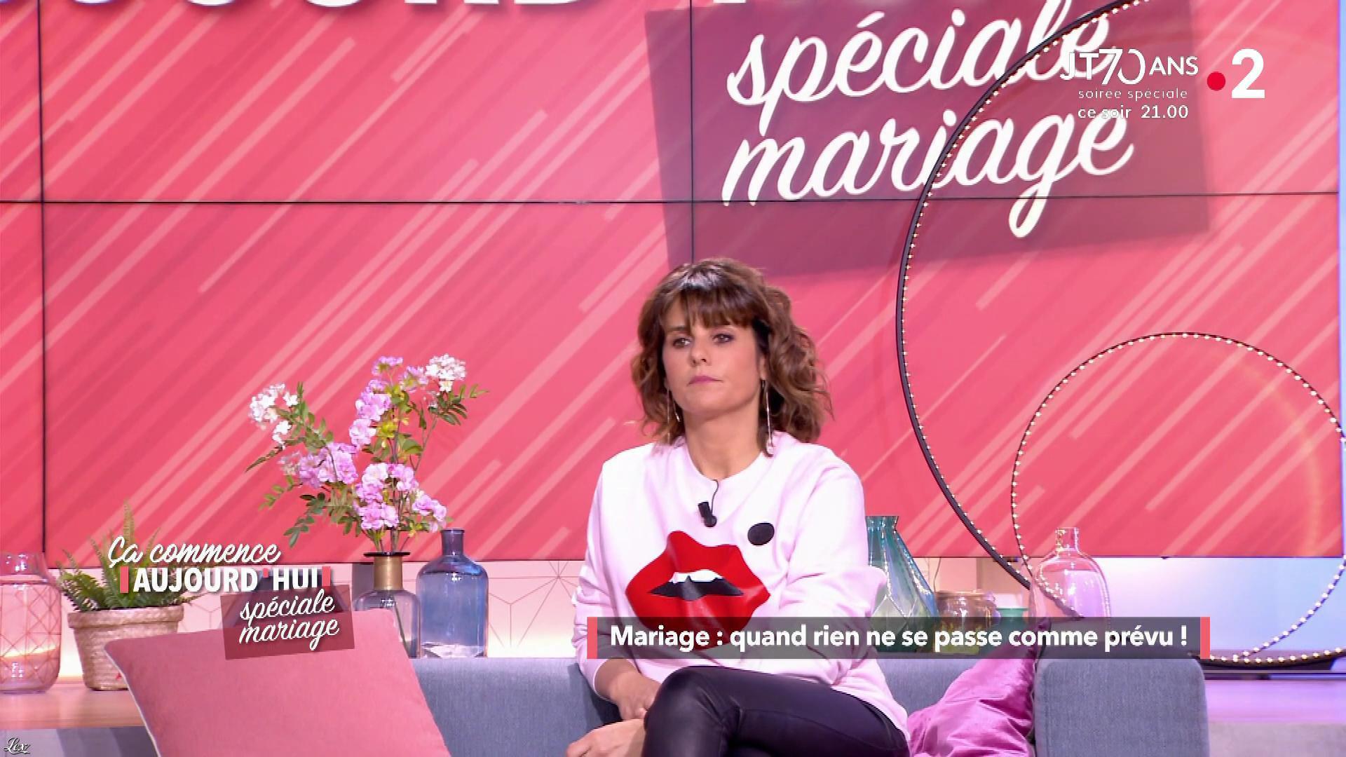 Faustine Bollaert dans Ça Commence Aujourd'hui. Diffusé à la télévision le 13/06/19.