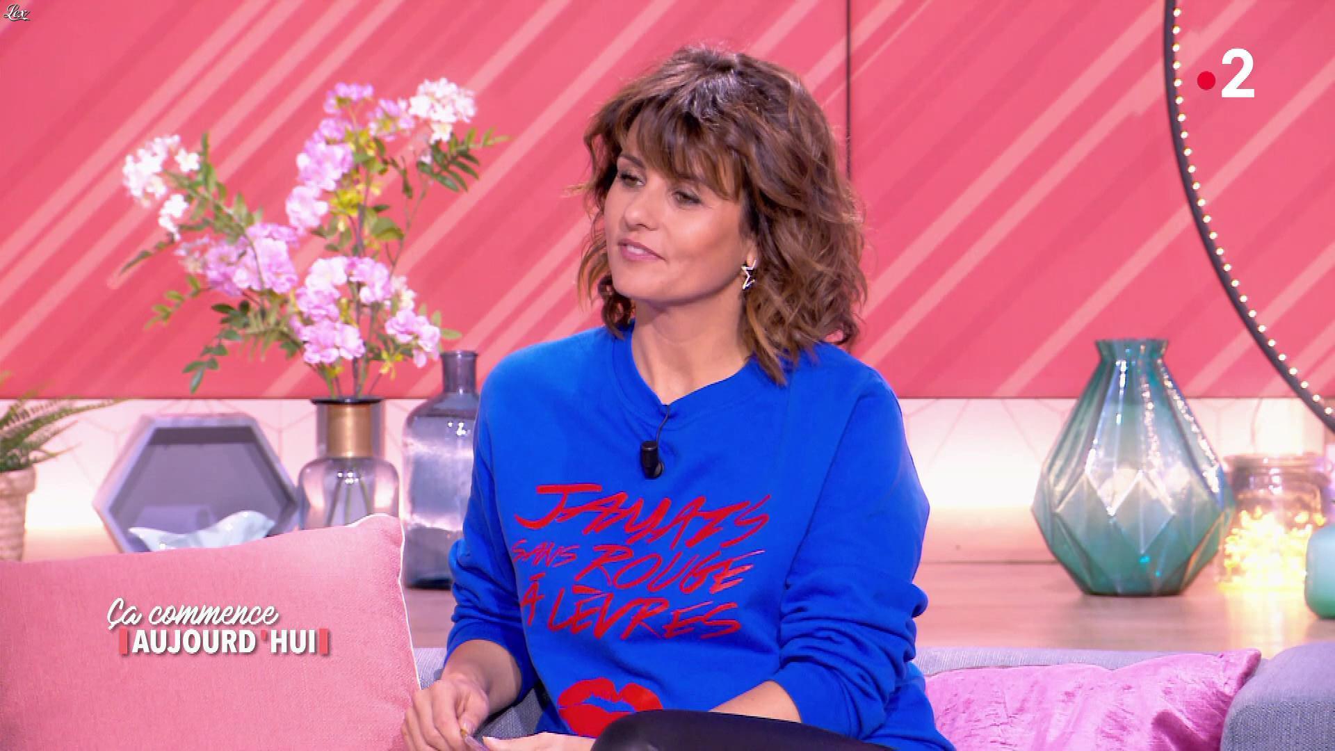 Faustine Bollaert dans Ça Commence Aujourd'hui. Diffusé à la télévision le 14/06/19.