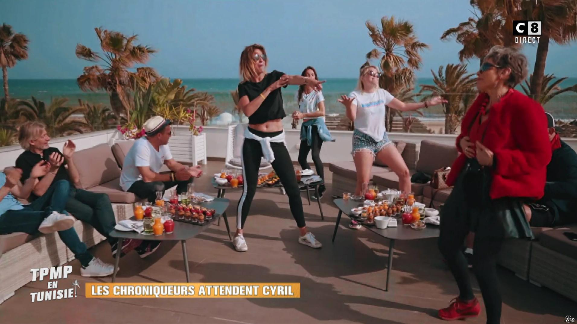 Kelly Vedovelli et Caroline Ithurbide dans Touche pas à mon Poste en Tunisie. Diffusé à la télévision le 13/06/19.