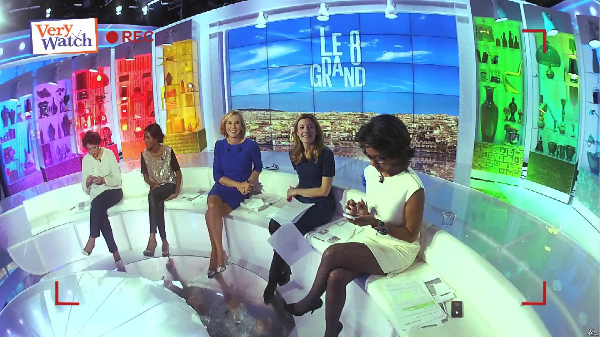 Laurence Ferrari, Hapsatou Sy et Audrey Pulvar dans Very Watch. Diffusé à la télévision le 06/12/12.