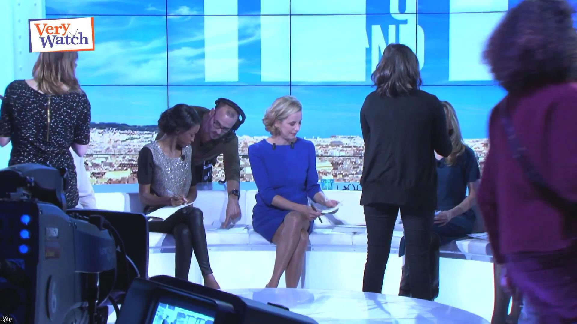 Laurence Ferrari et Hapsatou Sy dans Very Watch. Diffusé à la télévision le 06/12/12.