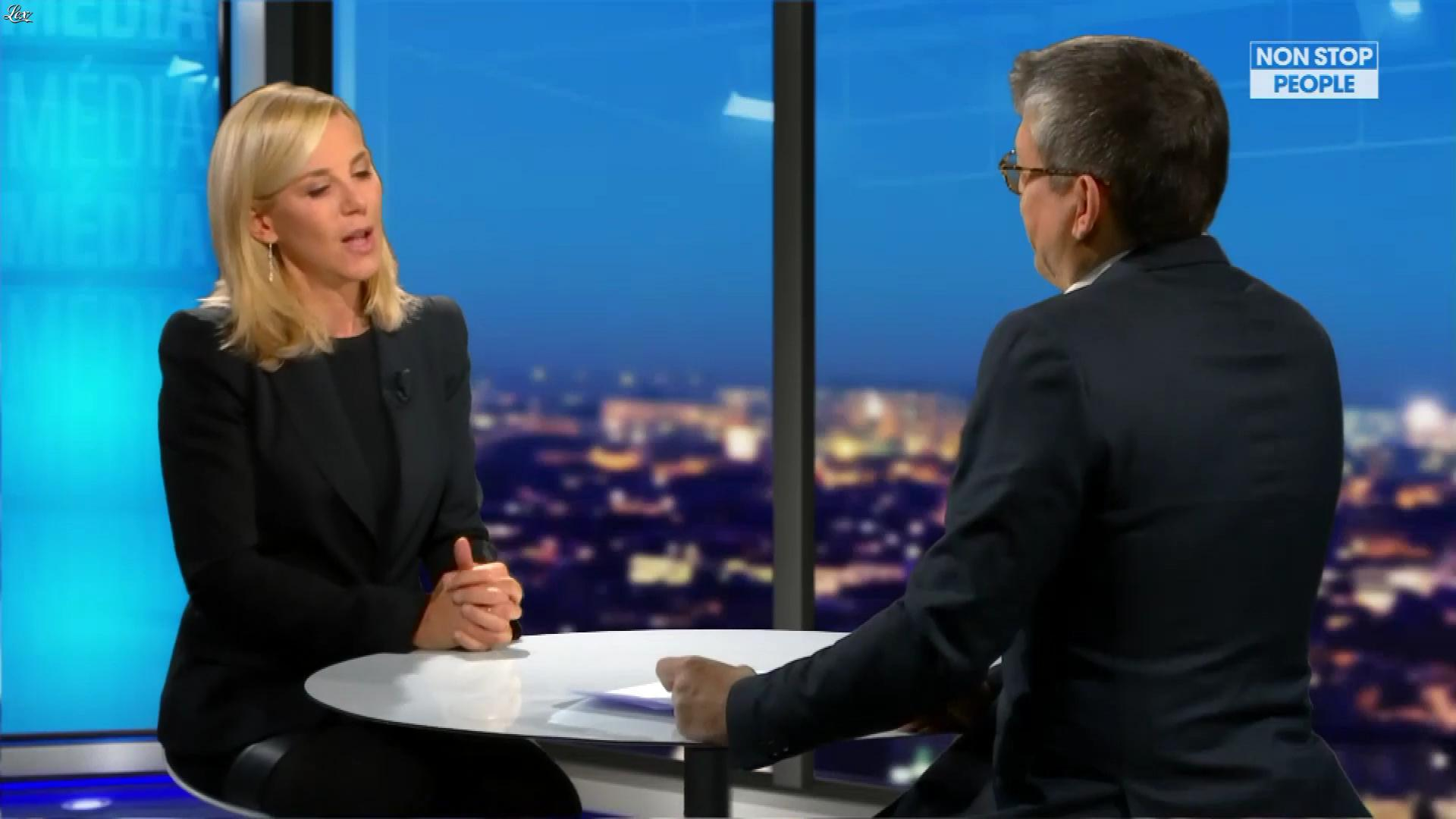 Laurence Ferrari dans Non Stop People. Diffusé à la télévision le 11/01/19.